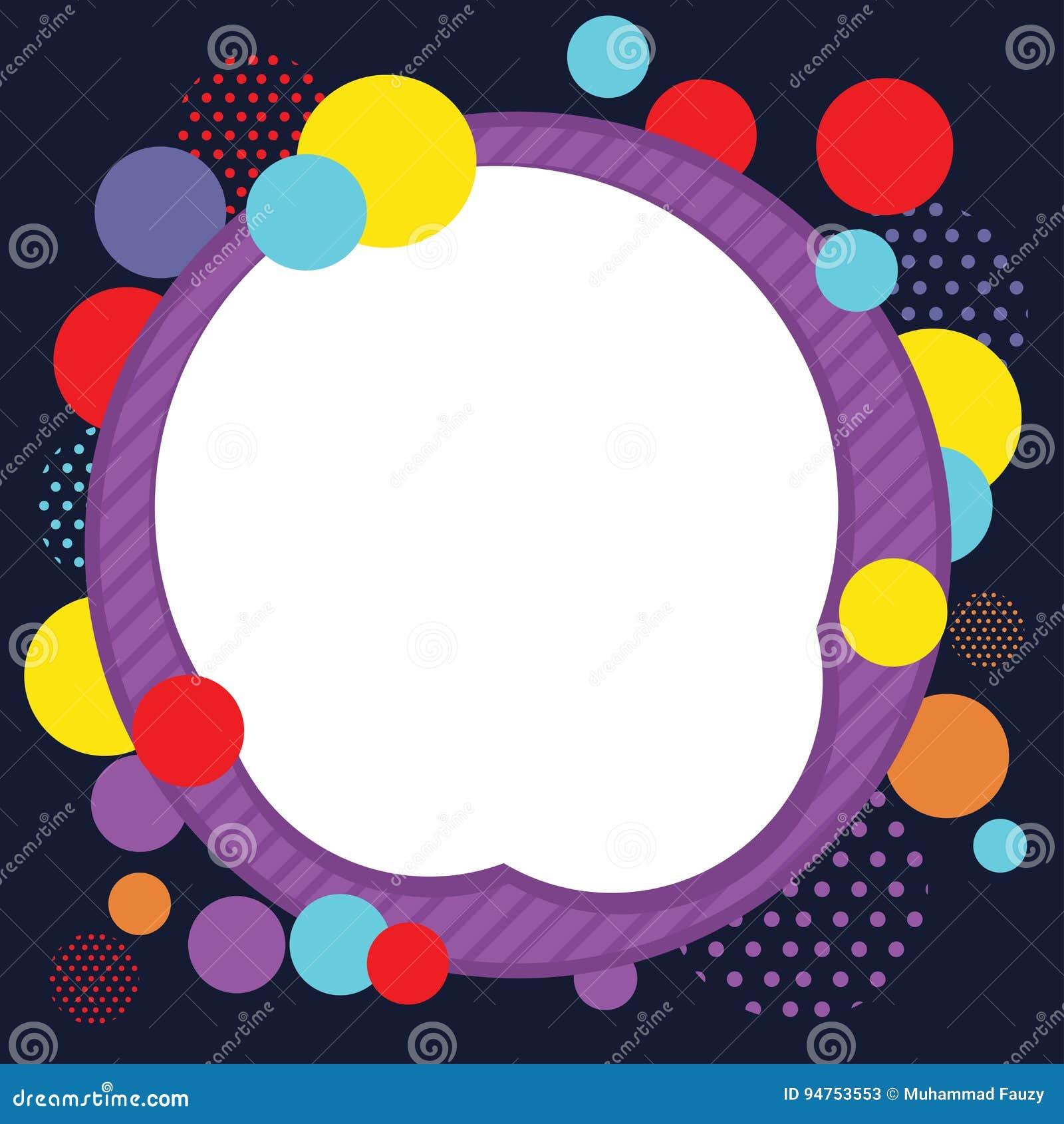 Fundo abstrato do quadro do círculo
