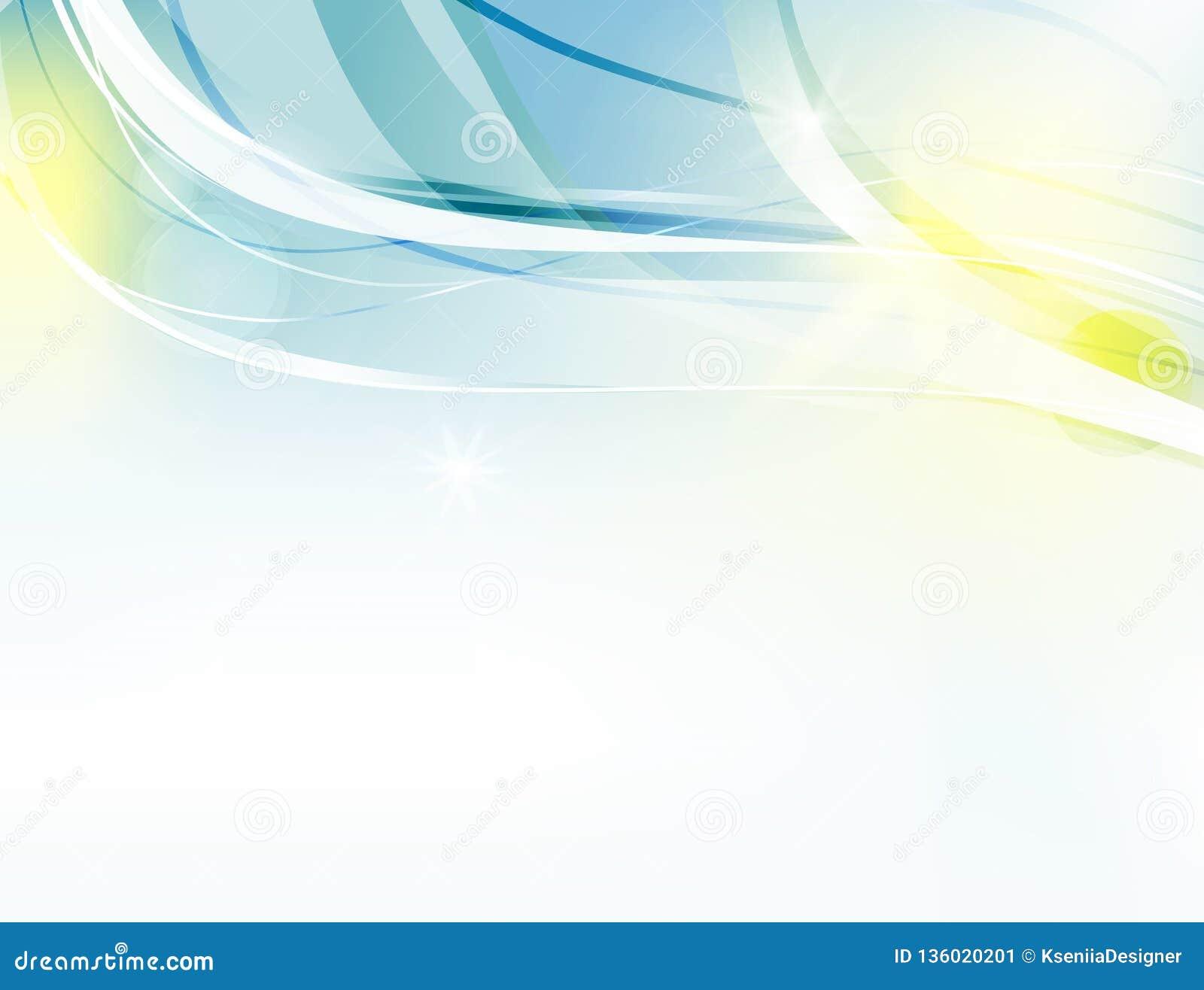 Fundo abstrato do vetor Ondas curvadas brilhantes para anunciar Linhas de incandescência
