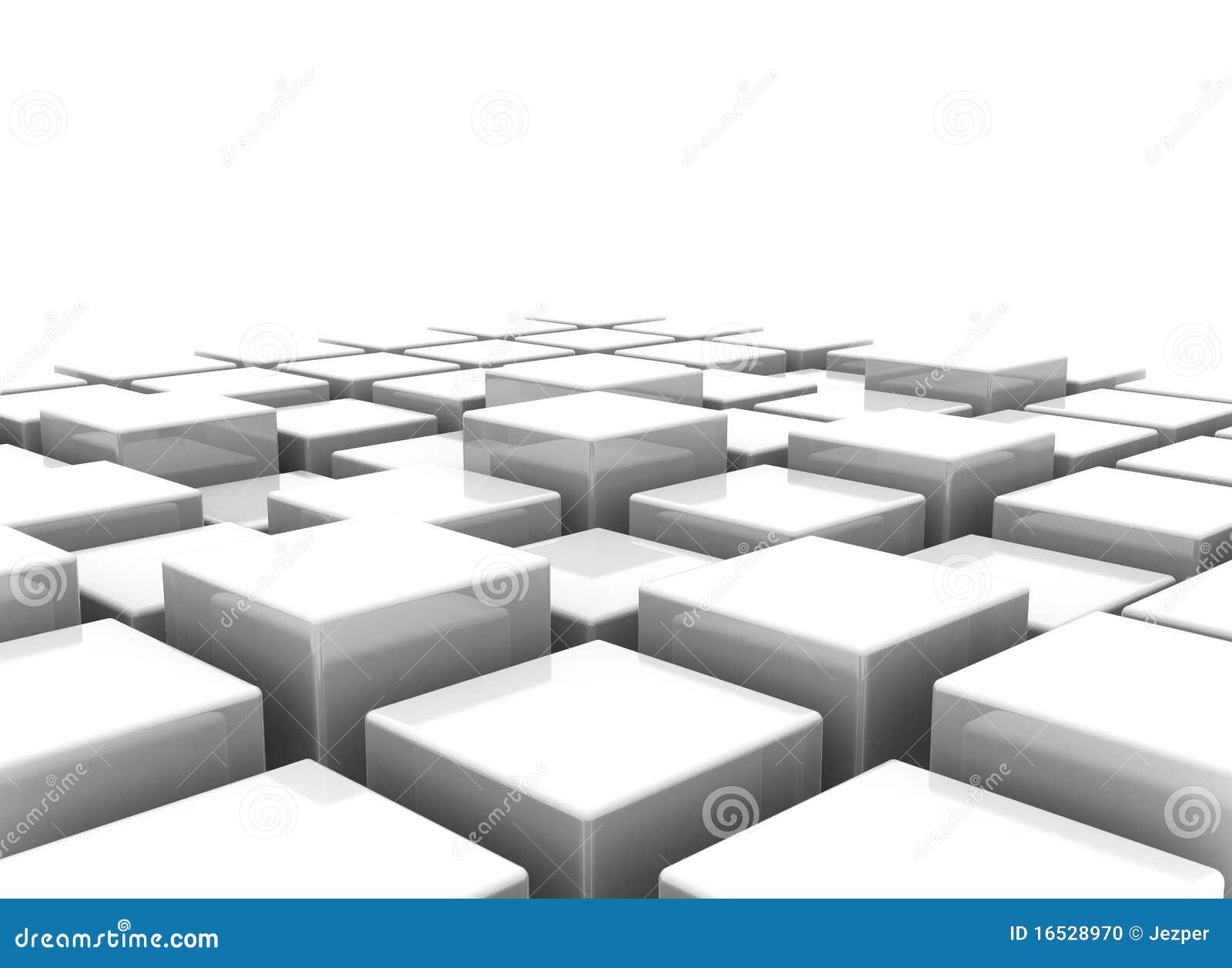 Fundo abstrato dos blocos 3d