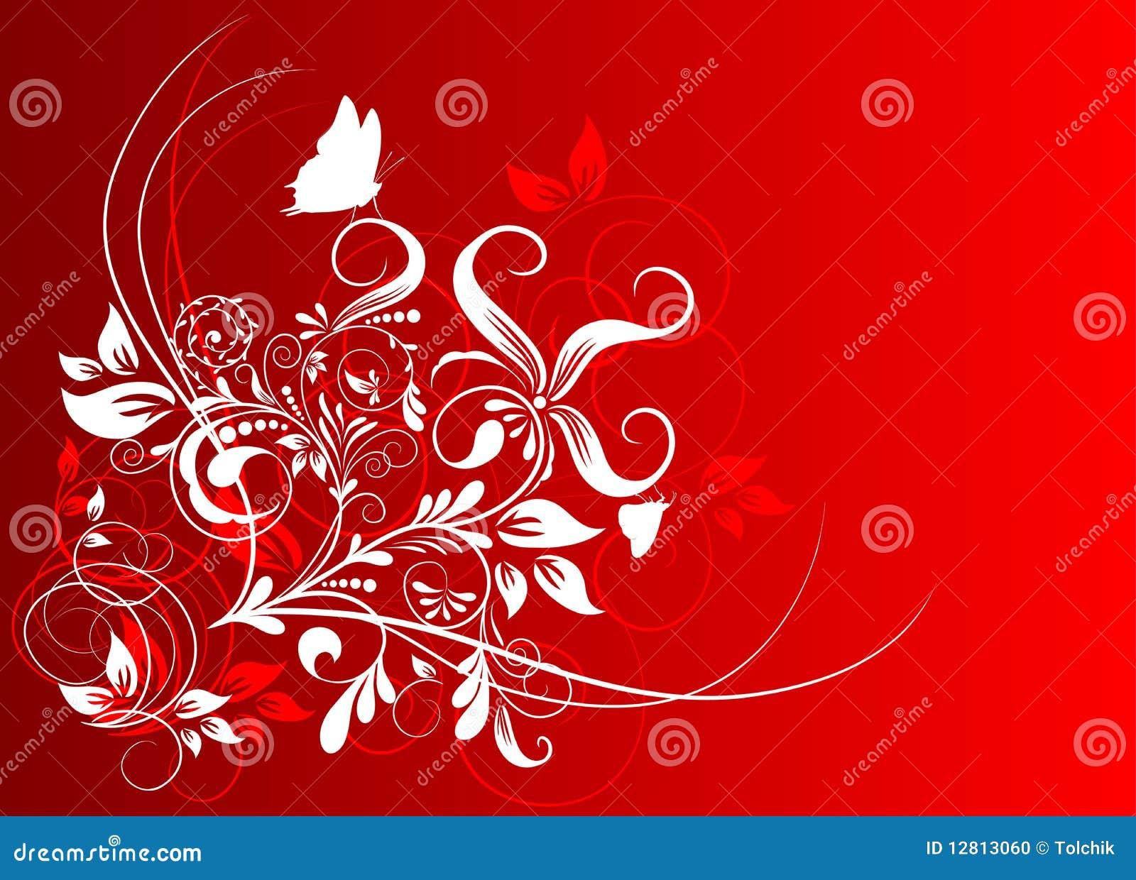 Fundo abstrato floral, vetor