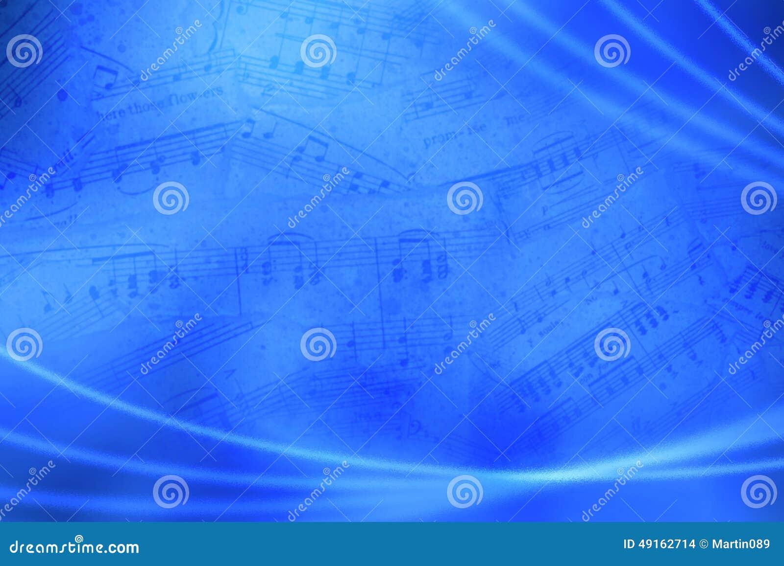Fundo abstrato musical azul