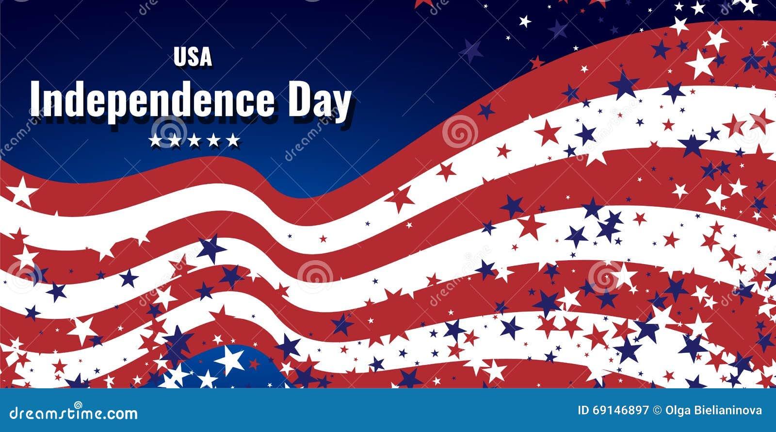 Fundo abstrato nas cores da bandeira americana Fundo do tema do Dia da Independência ou do dia de veteranos