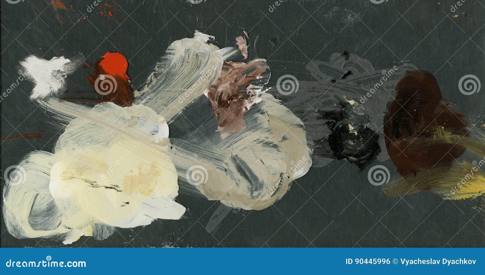 Fundo abstrato, pinturas de petróleo paleta da arte do acrílico, pinturas de óleo fundo cênico colorido abstrato