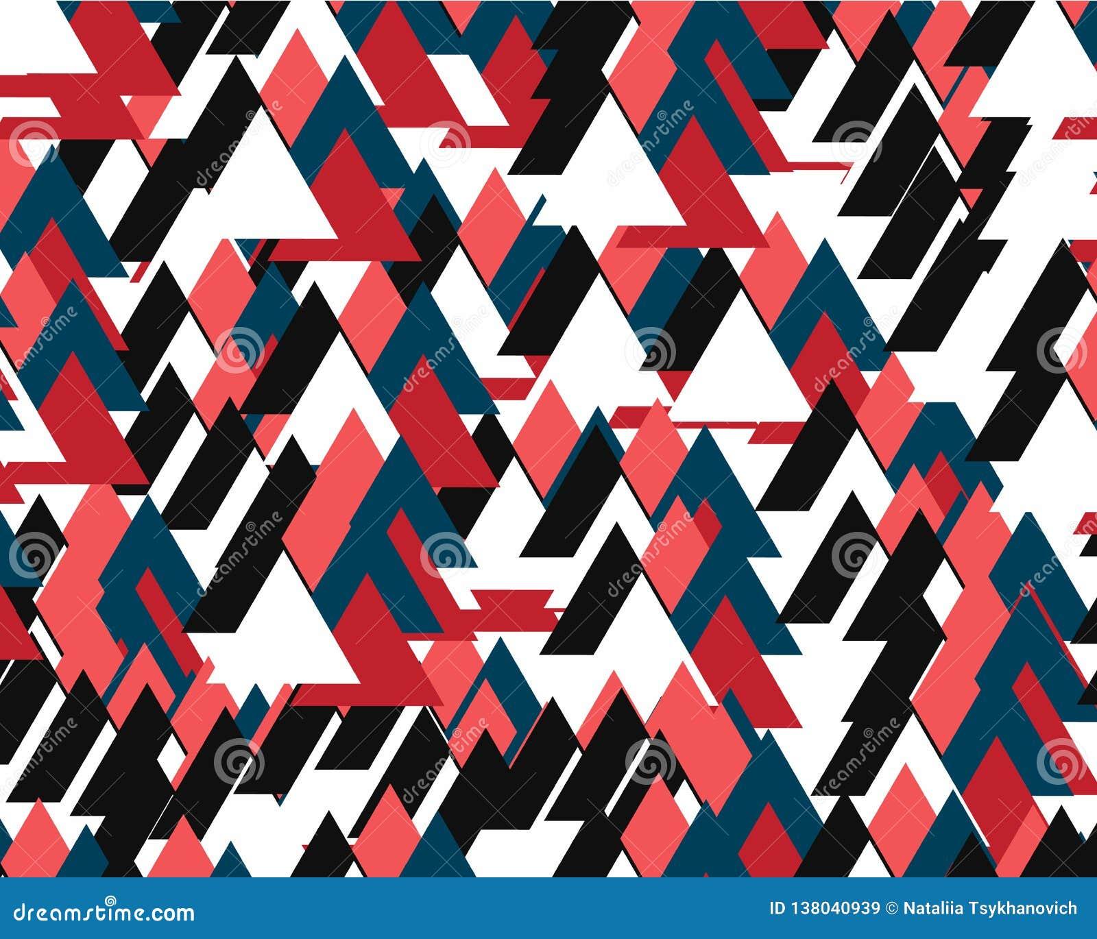 Fundo abstrato que consiste em muitos triângulos coloridos