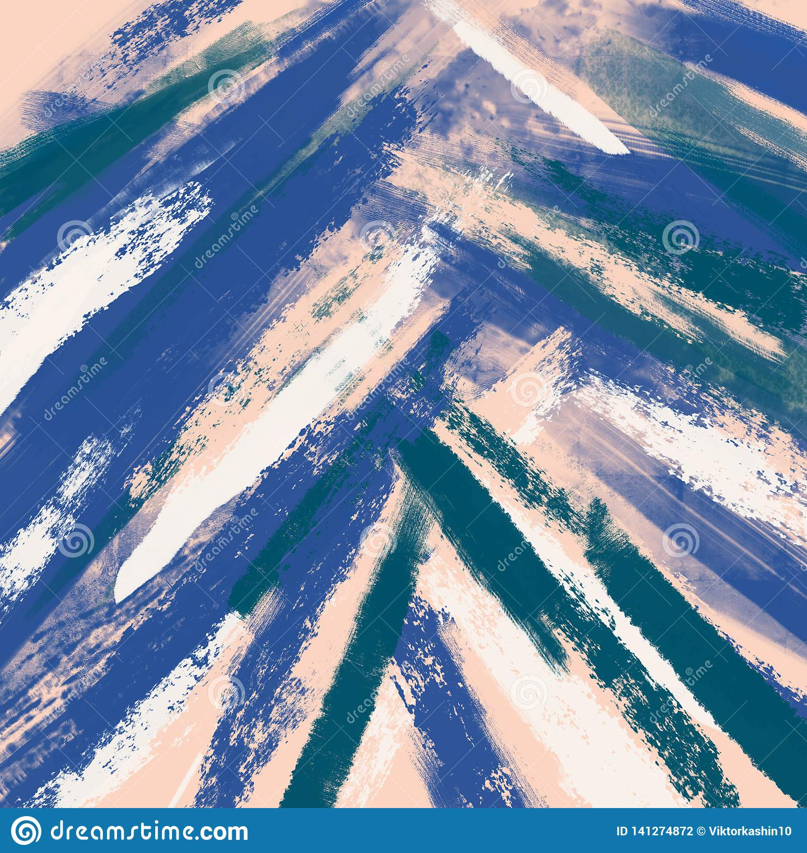 Fundo abstrato, técnica do drybrush, tinta Teste padrão tirado mão da pintura das pinceladas Cor pastel macia