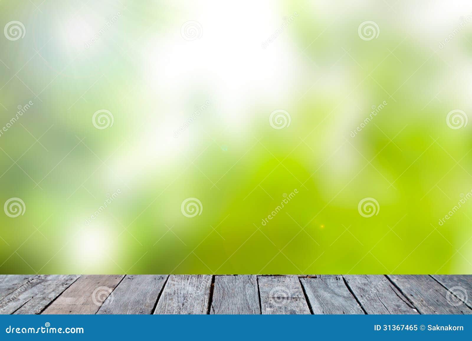 Fundo abstrato verde da natureza do borrão