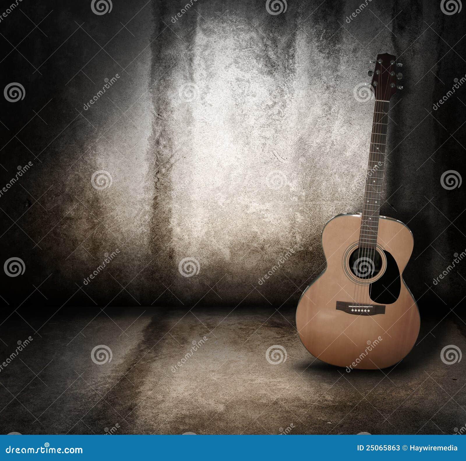 Fundo acústico de Grunge da guitarra da música