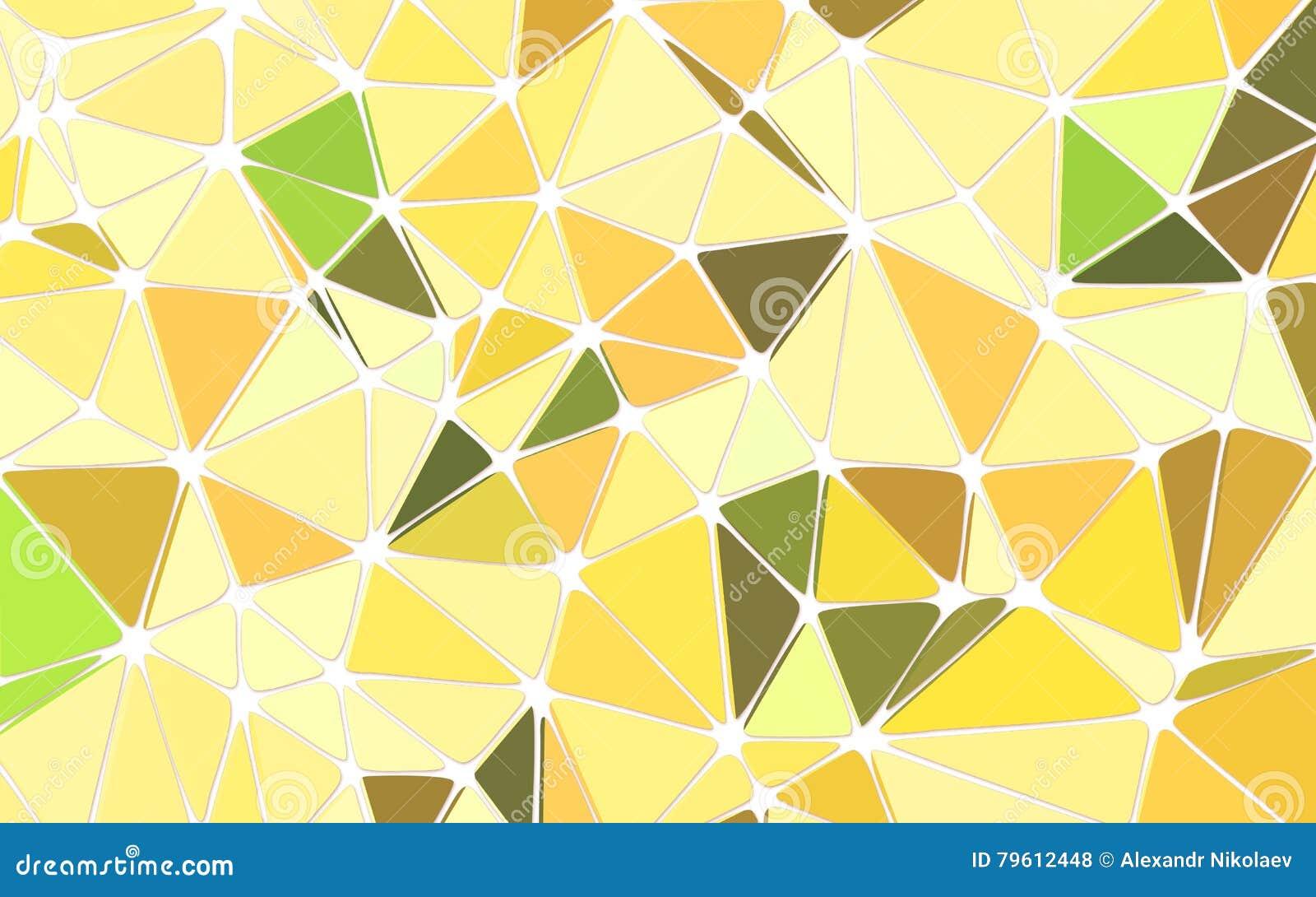 Fundo amarelo poligonal geométrico abstrato