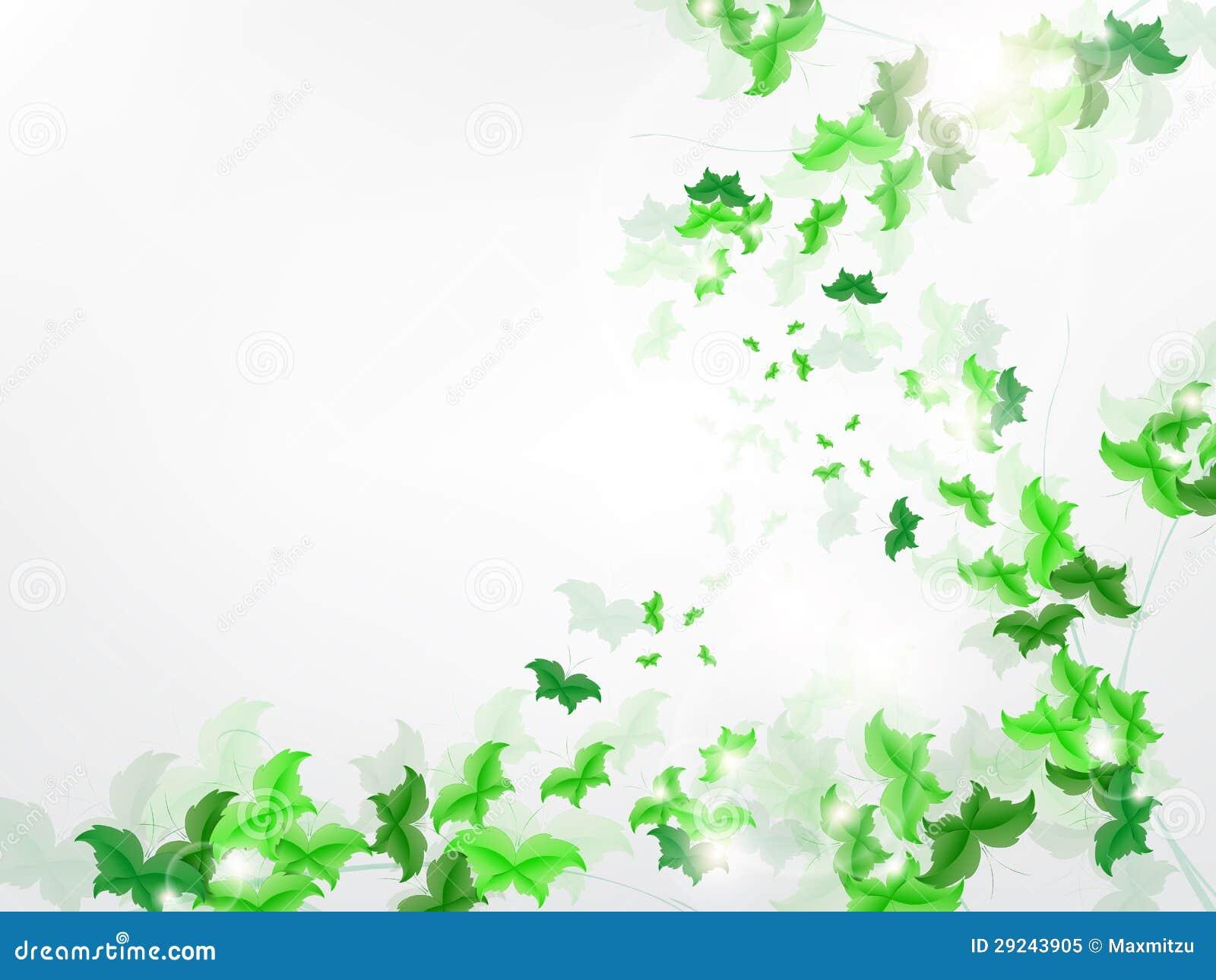 Download Fundo Ambiental Com As Borboletas Verdes Da Folha Ilustração do Vetor - Ilustração de sumário, cresça: 29243905
