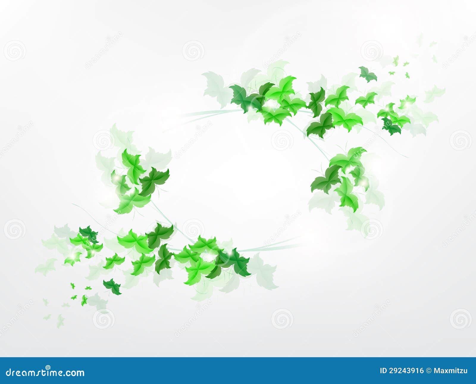 Download Fundo Ambiental Com As Borboletas Verdes Da Folha Ilustração do Vetor - Ilustração de imagem, borboleta: 29243916