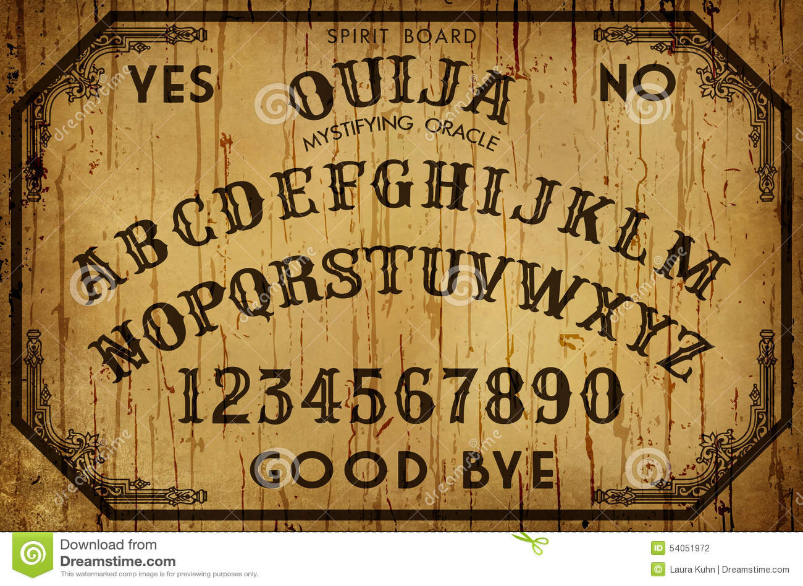 Fundo Art Ouija Board