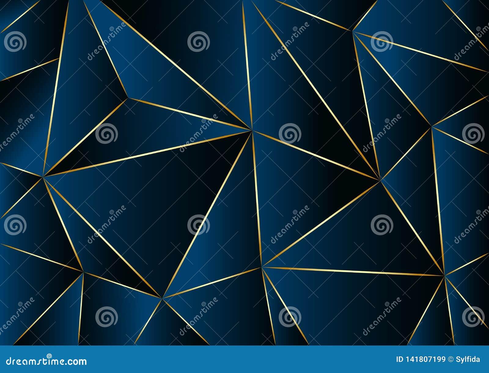 Fundo azul abstrato no baixo estilo poli Ilustração do vetor