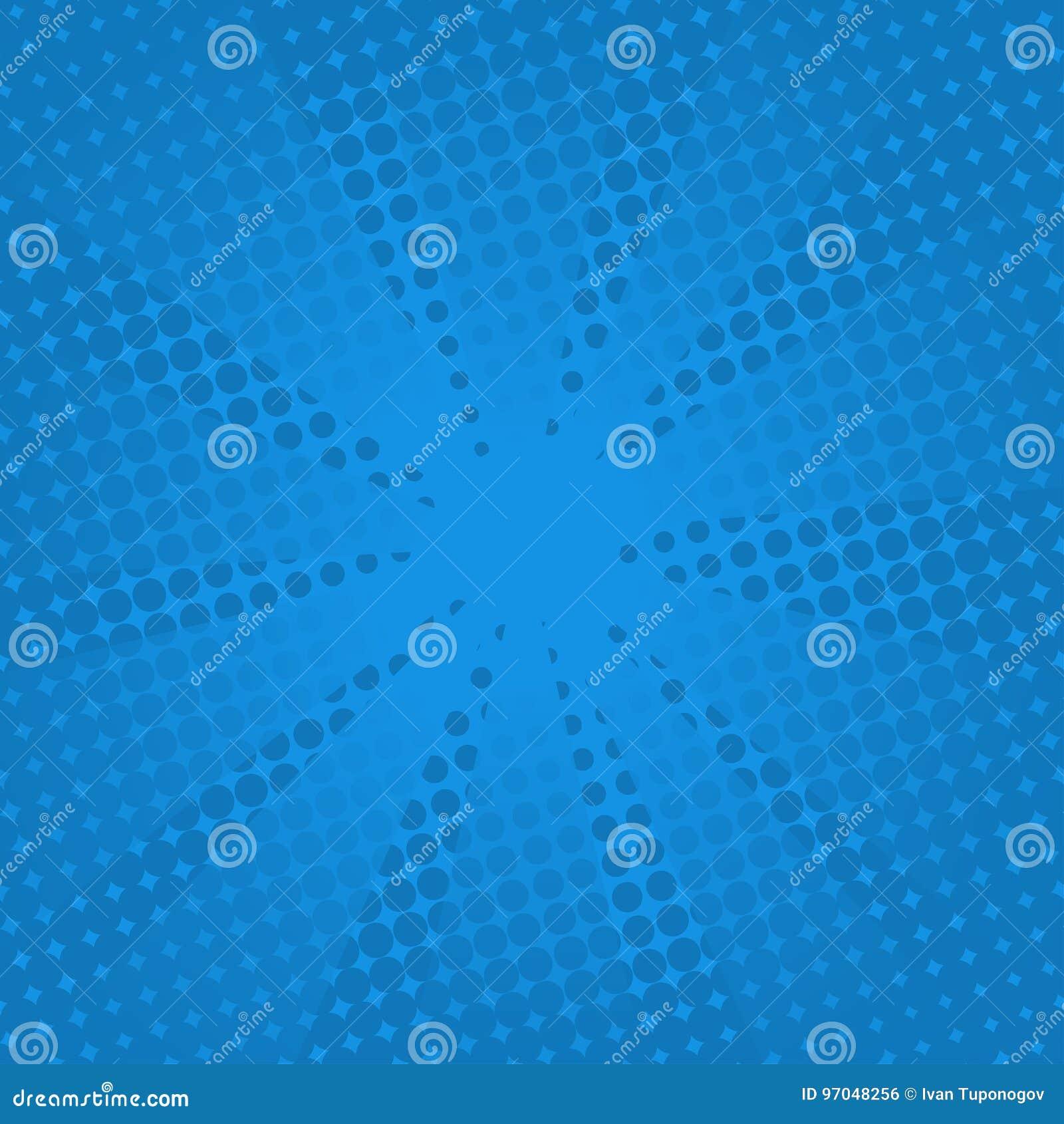 Fundo azul cômico dos raios retros
