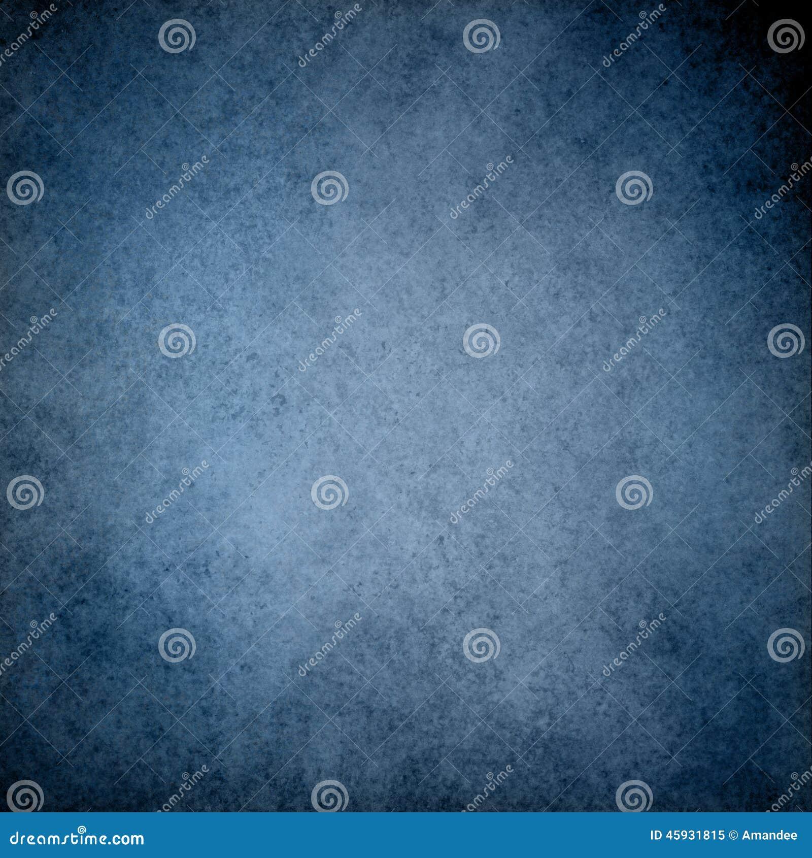 Fundo azul com projeto da beira da textura do vintage do grunge e luz - centro azul
