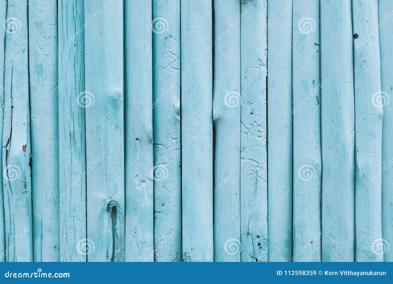 Fundo azul da madeira da cor do oceano