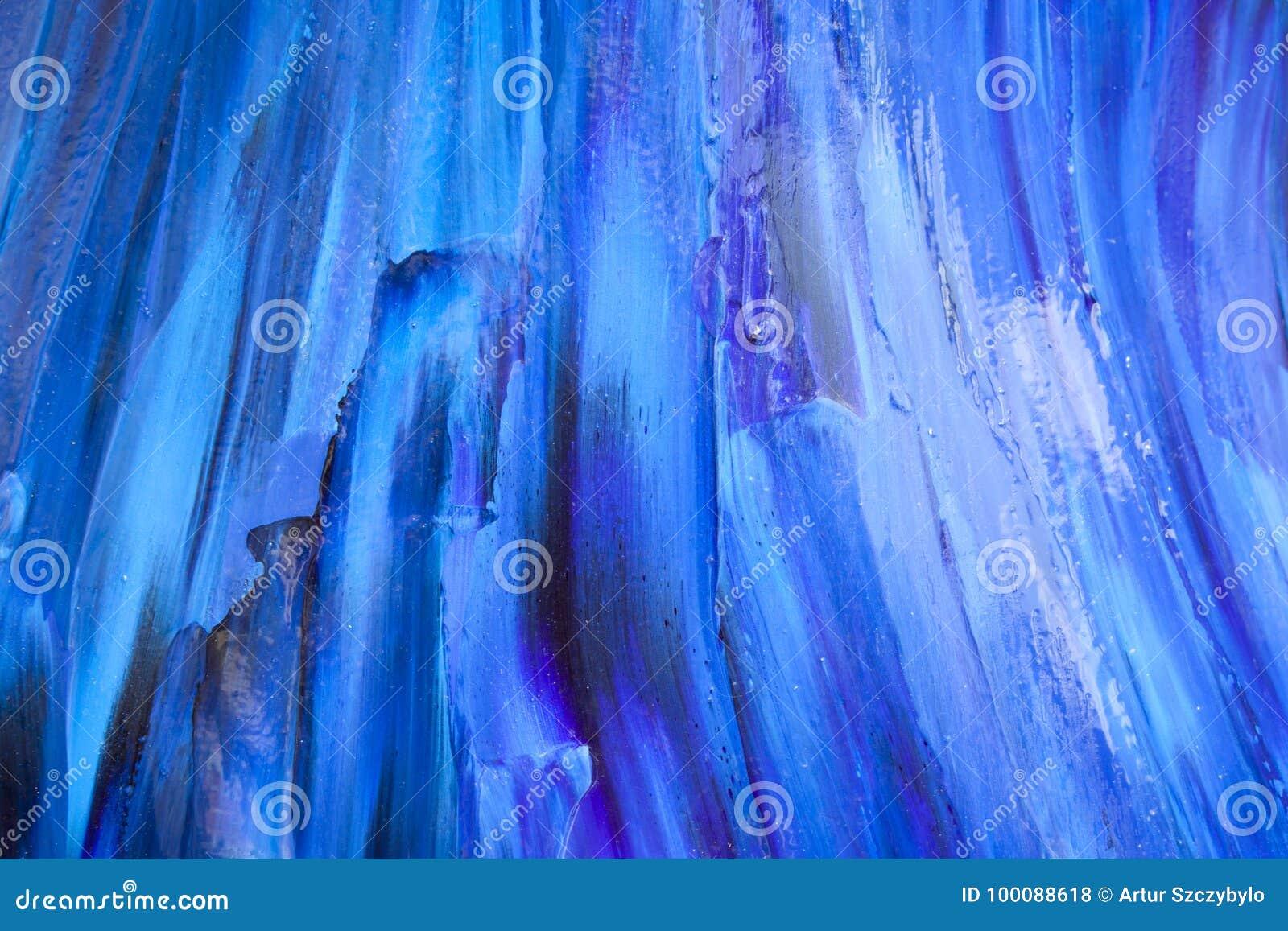 Fundo azul da pintura da textura