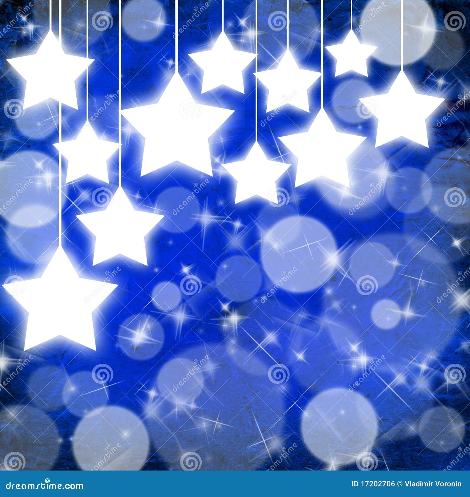 Fundo Azul Do Natal Com Estrelas Foto de Stock - Imagem de tampa ... a29709690d636