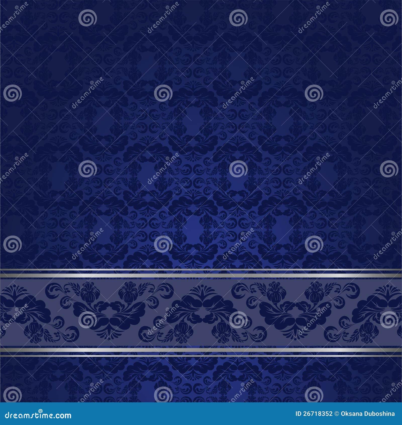 Fundo azul do vintage