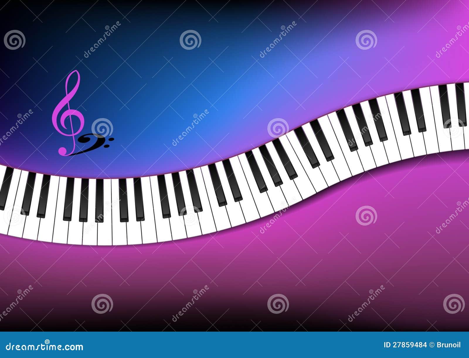 Fundo azul e cor de rosa teclado de piano curvado imagens for Imagenes de techados