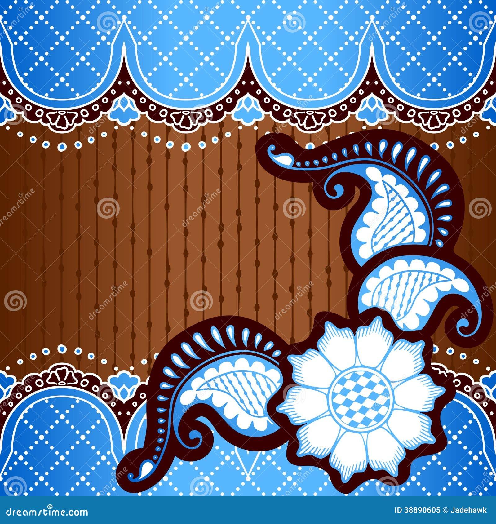fundo azul inspirado por projetos indianos do mehndi