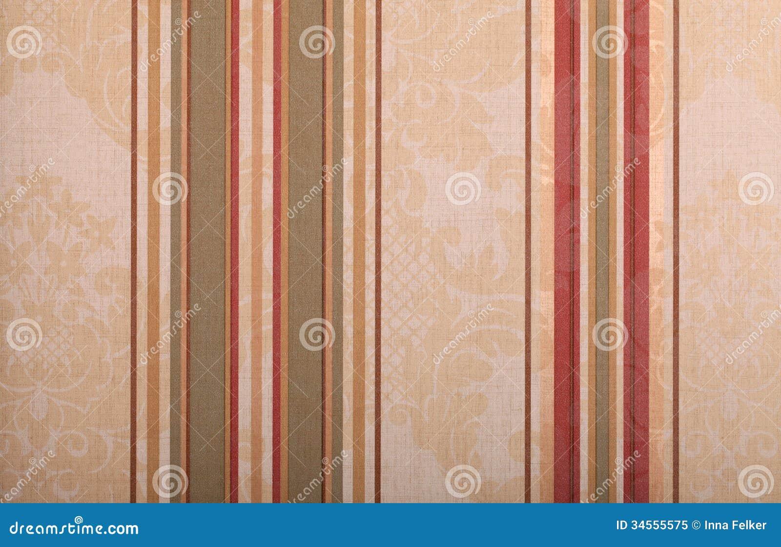 Fundo bege listrado do papel de parede do vintage foto de - Papel de pared retro ...
