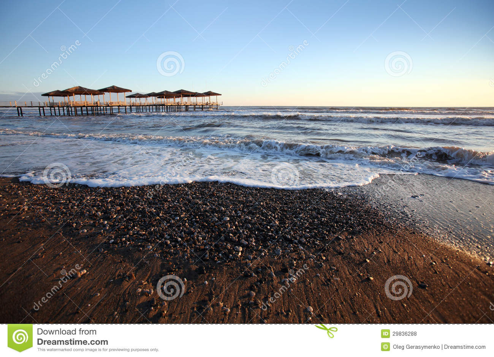 Fundo bonito do beira-mar