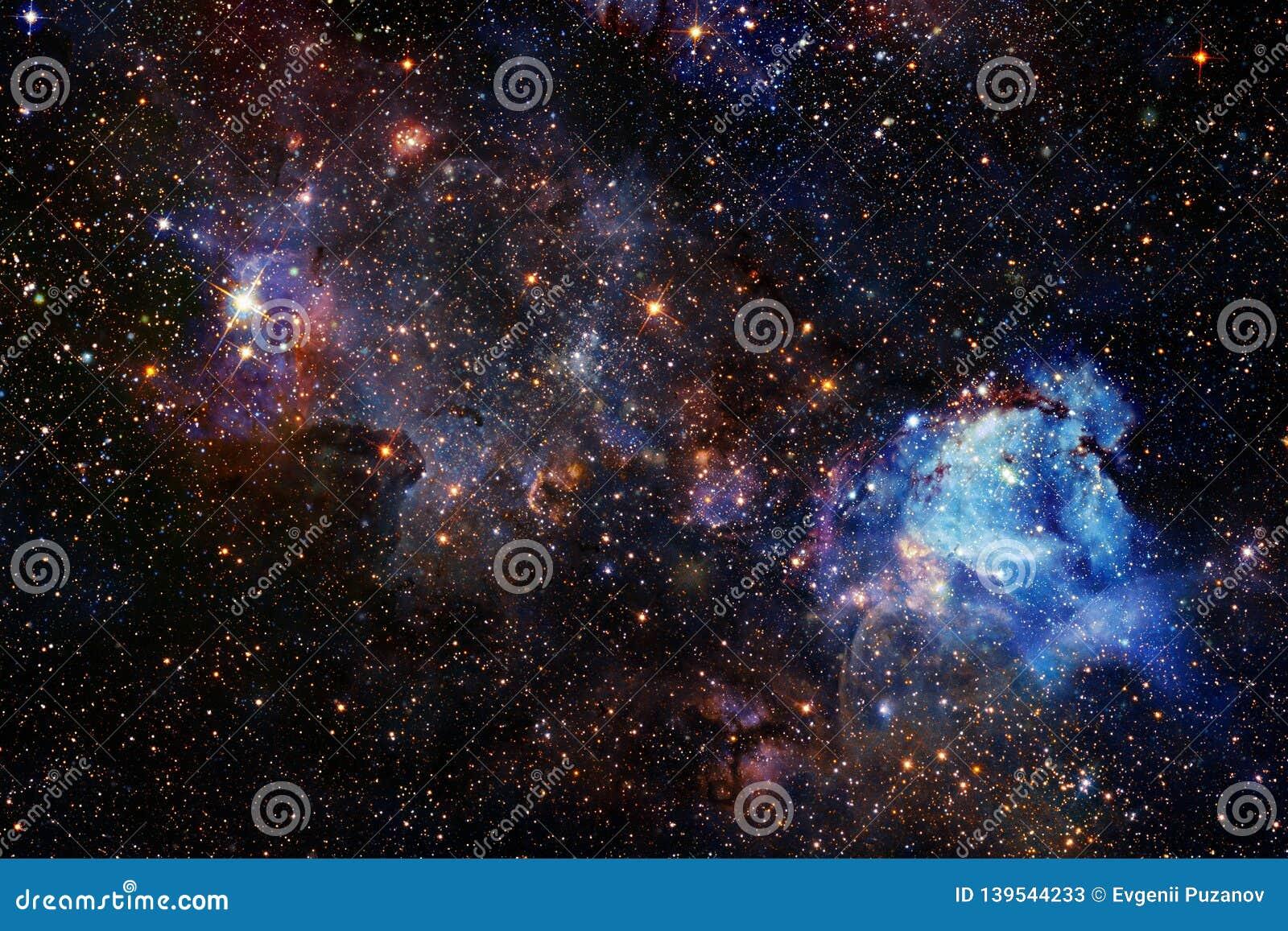 Fundo bonito do espaço Arte de Cosmoc Elementos desta imagem fornecidos pela NASA