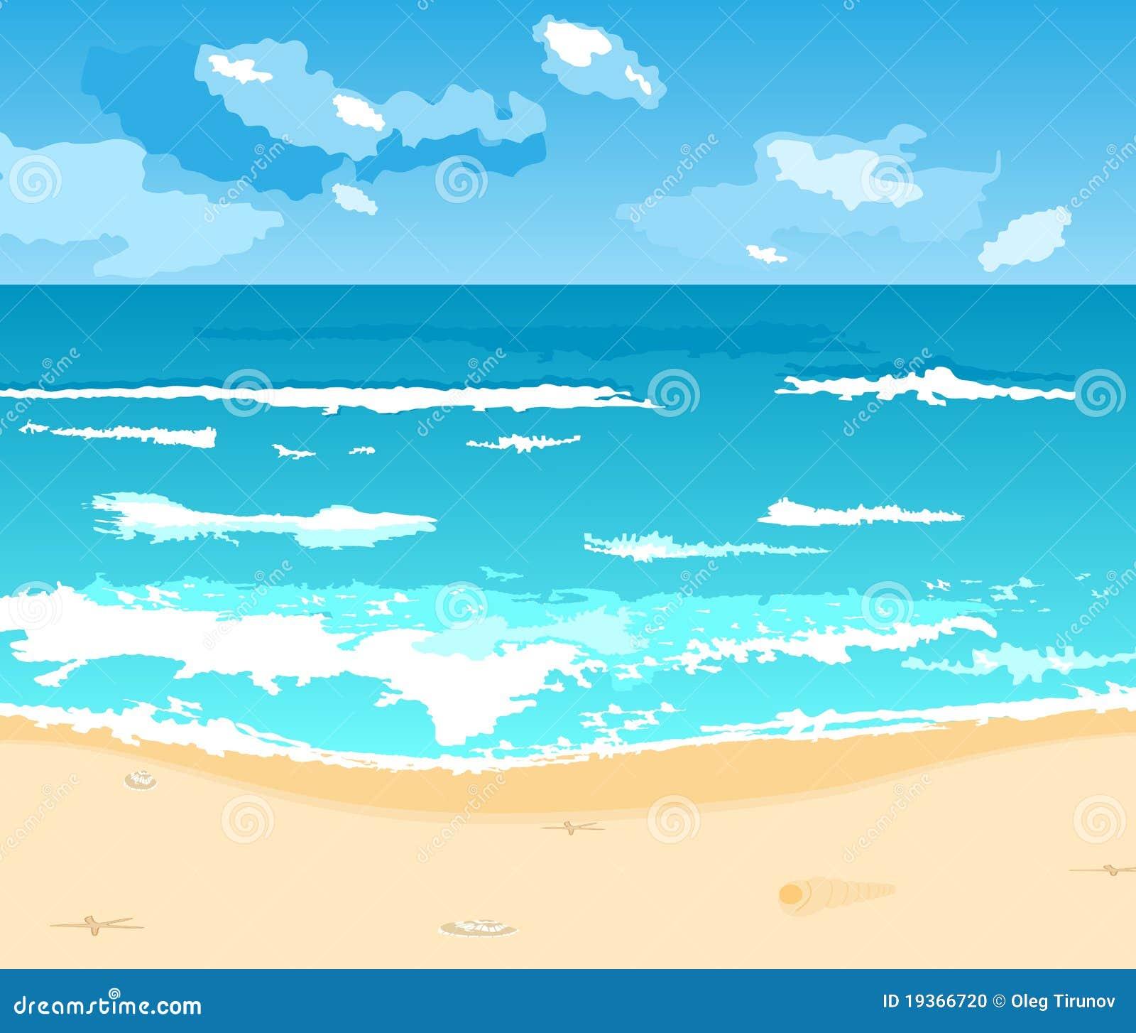Fundo bonito do verão com praia