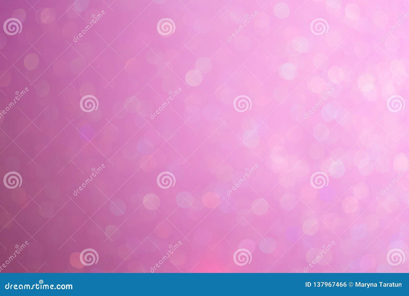 Fundo bonito no inclinação do tom da cor pastel com luz abstrata do bokeh Fundo cor-de-rosa delicado