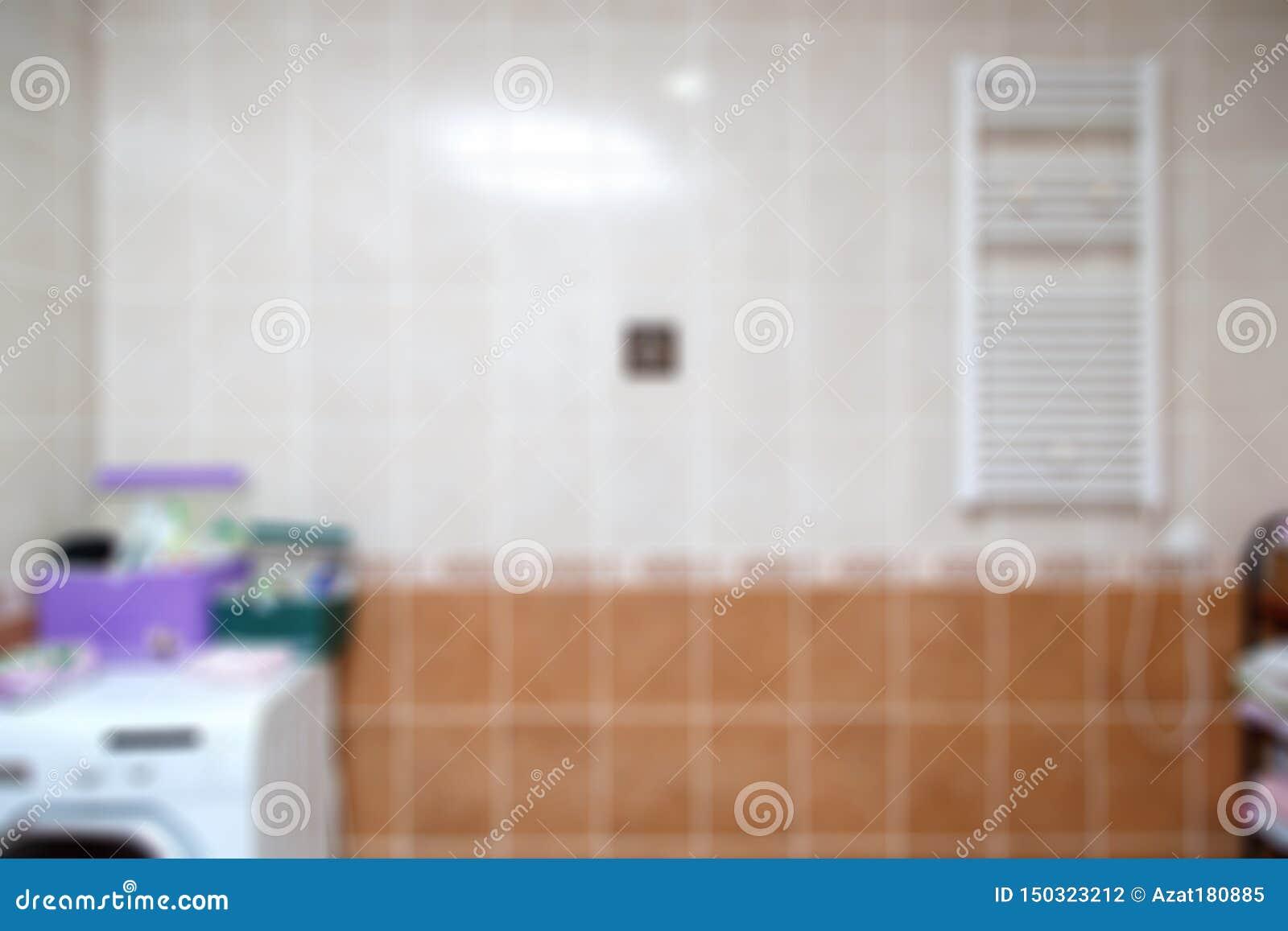 Fundo borrado do banheiro