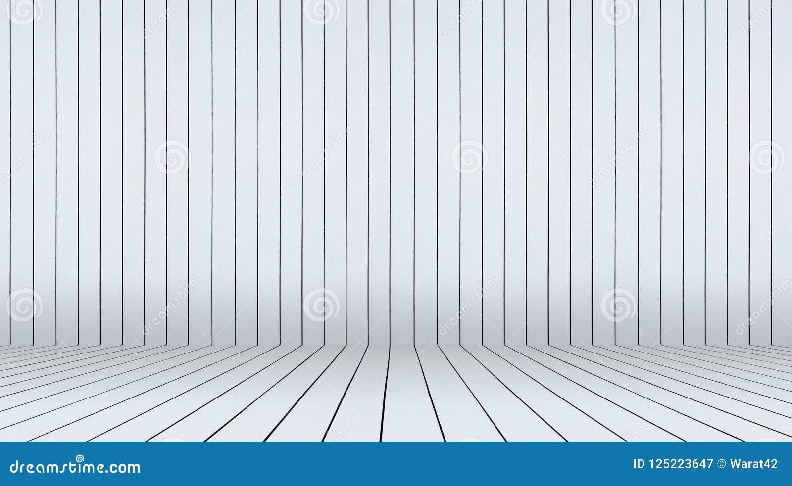Fundo branco da madeira da parede e do assoalho Fotografia de Stock Royalty Free