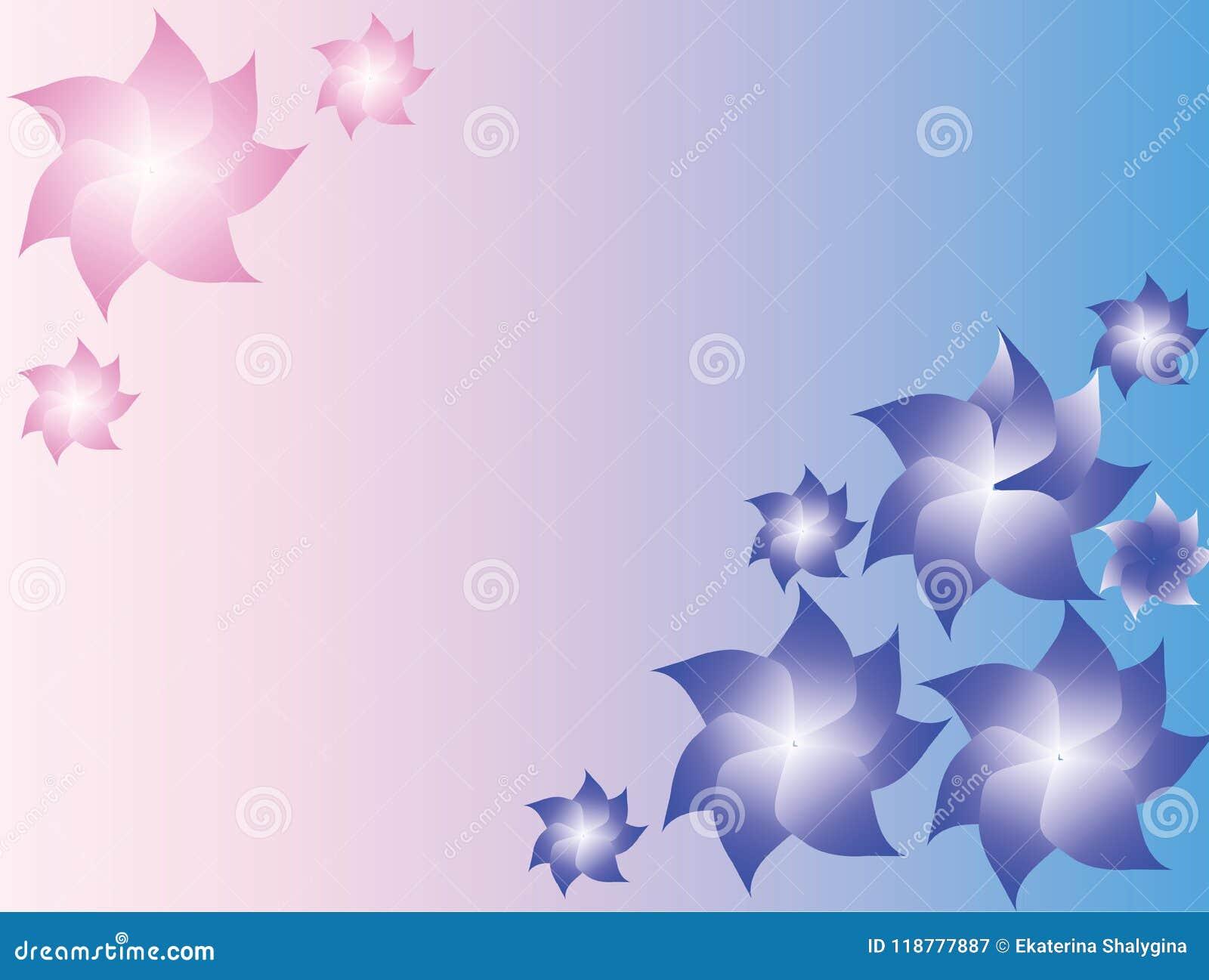 Fundo brandamente azul e cor-de-rosa