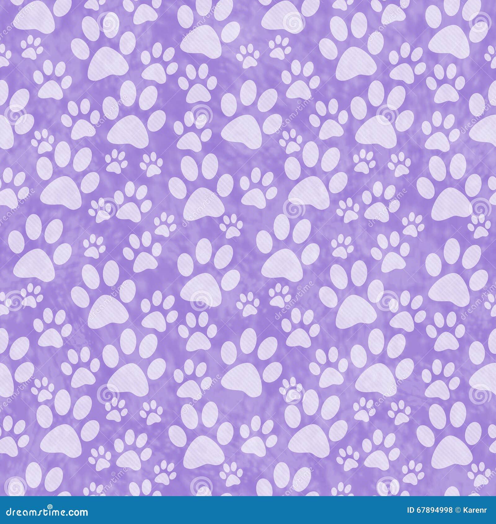Fundo canino roxo de Paw Print Tile Pattern Repeat
