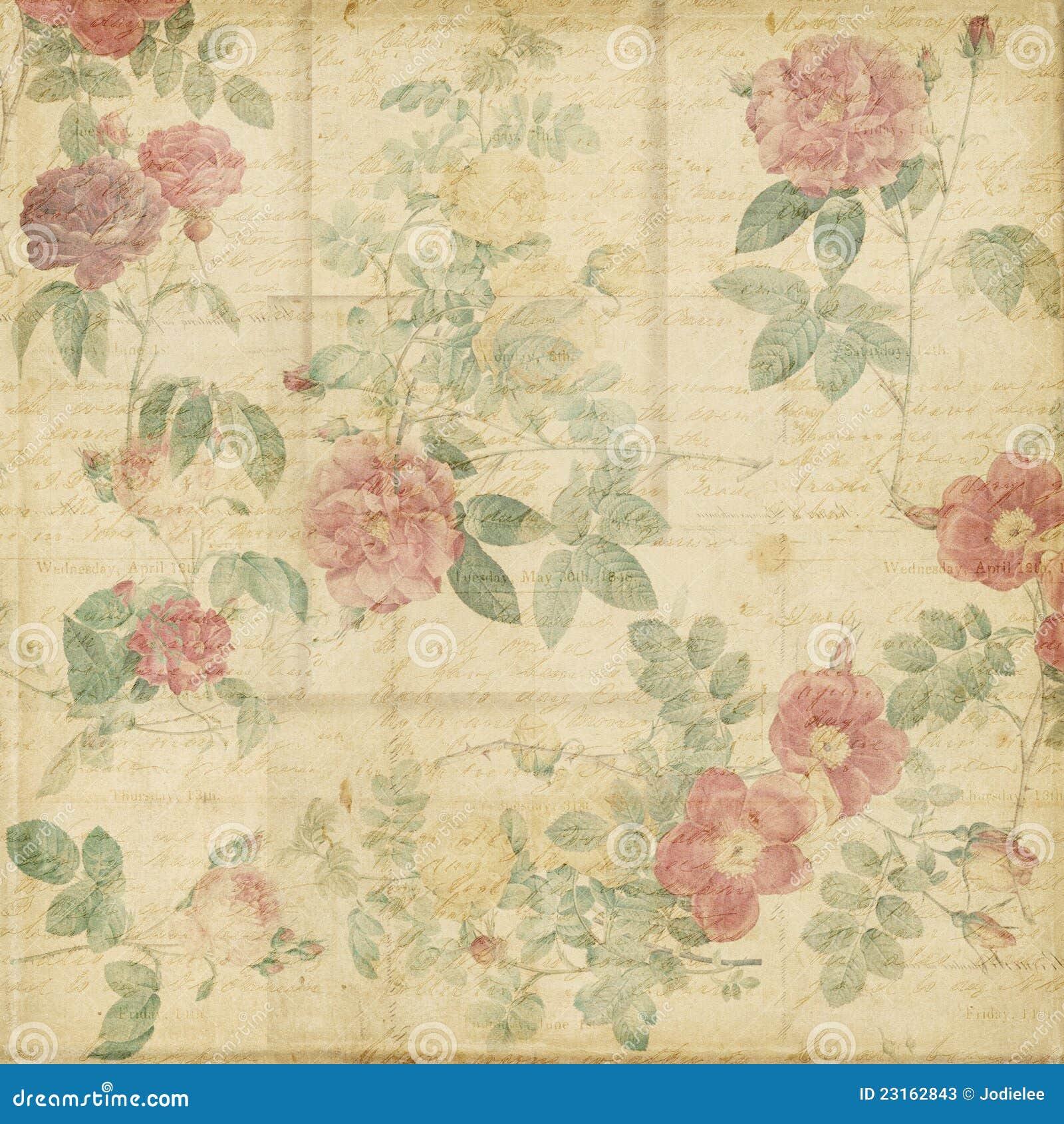 Fundo chique gasto das rosas bot nicas do vintage fotos de - Designers guild telas ...