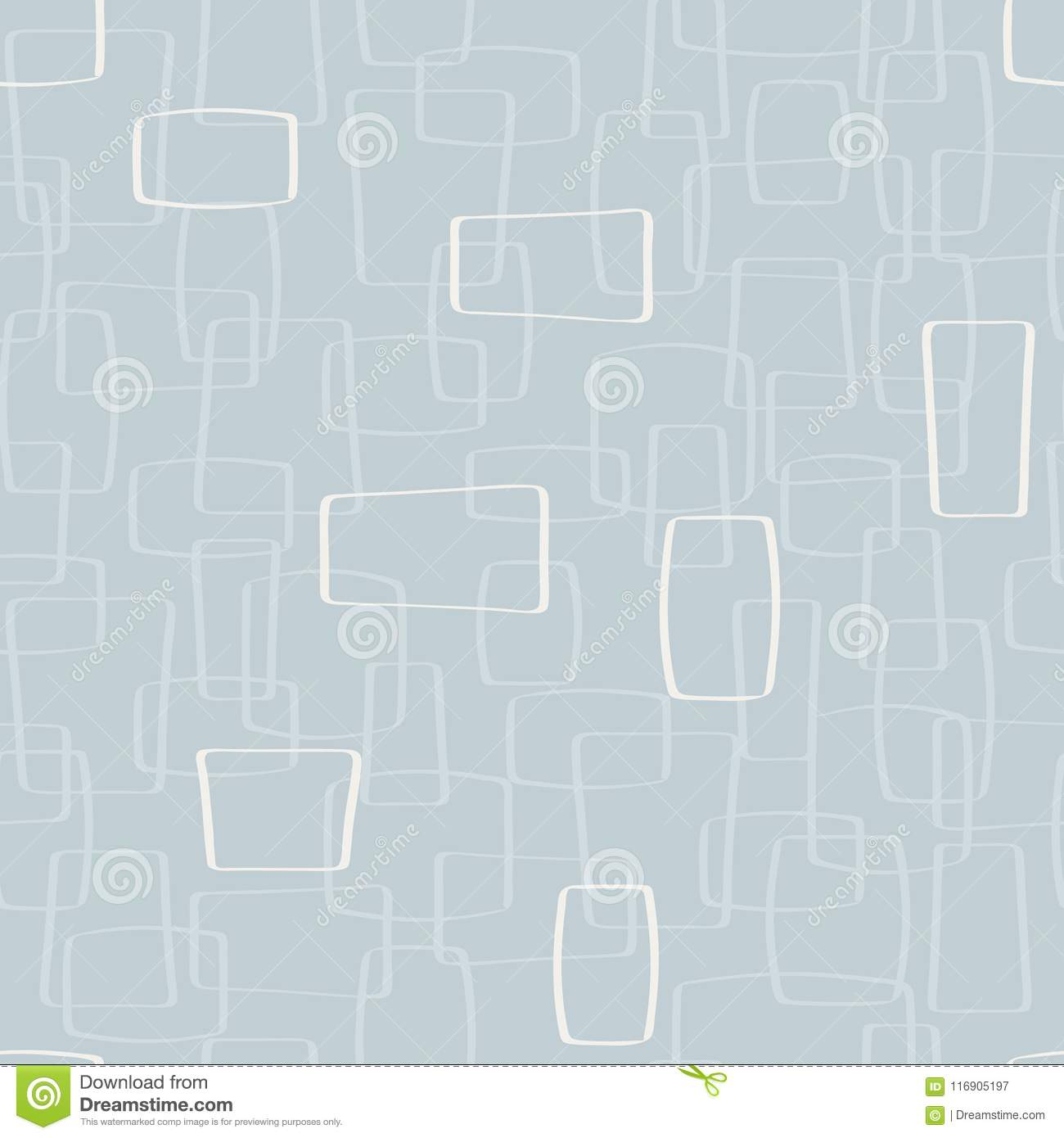 Fundo claro de Gray Mod Shapes Seamless Pattern do vetor