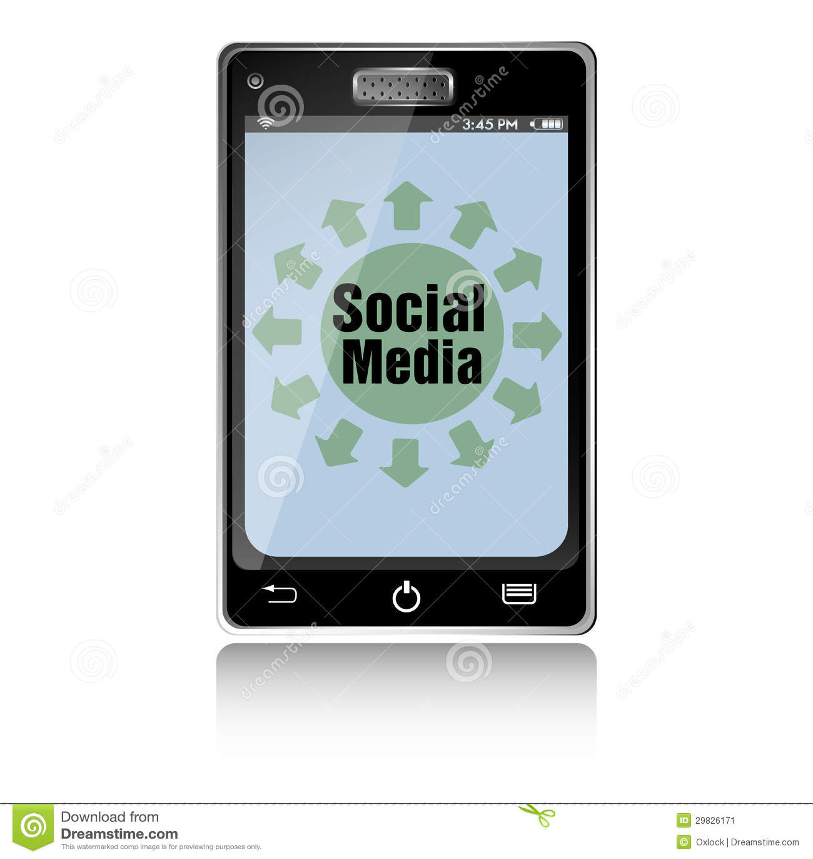 Smartphone social dos meios