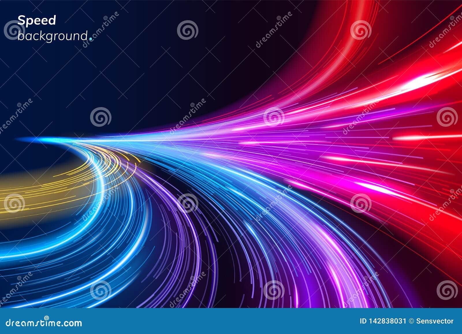 Fundo colorido abstrato da velocidade com linhas