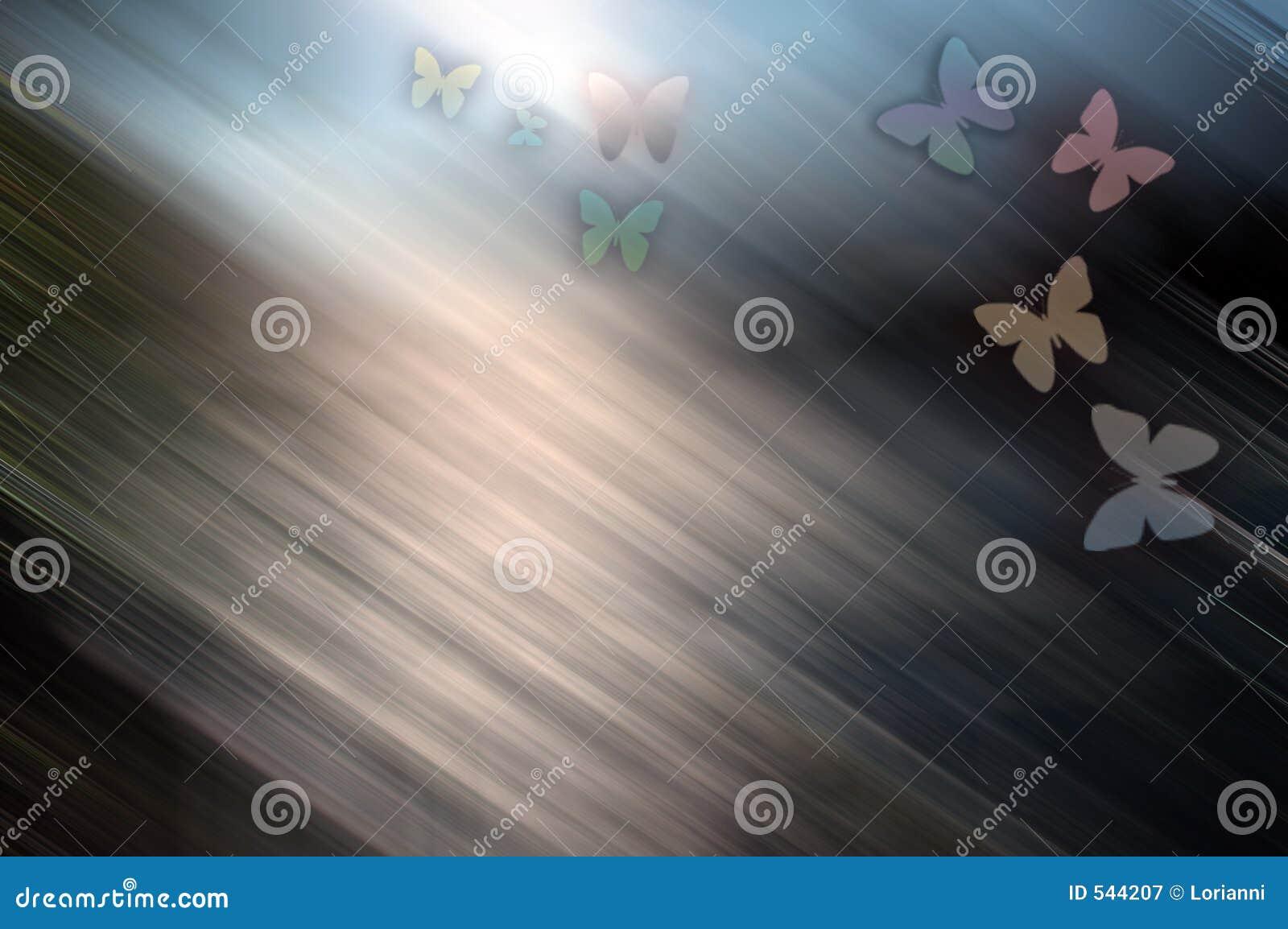 Fundo colorido com borboleta