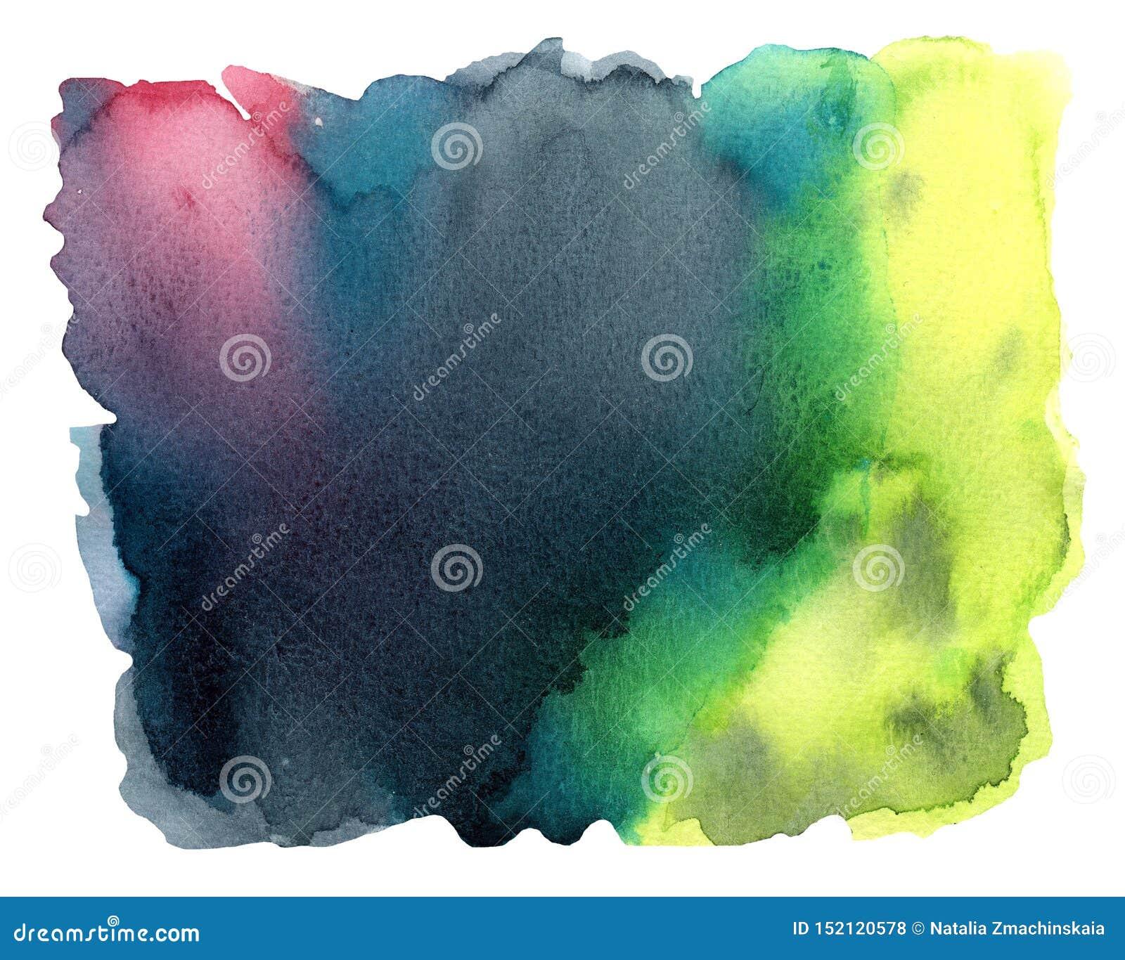 Fundo colorido da aquarela com respingo