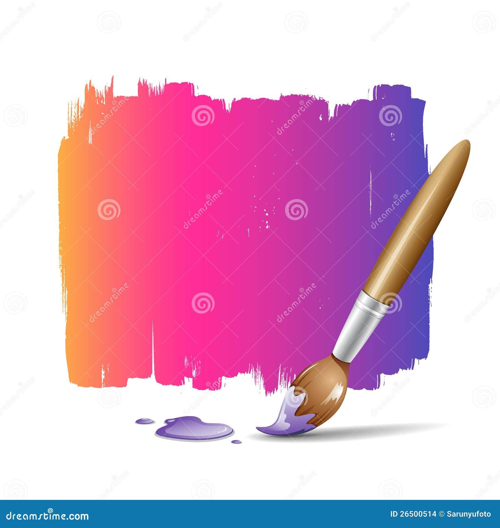Fundo colorido da escova de pintura