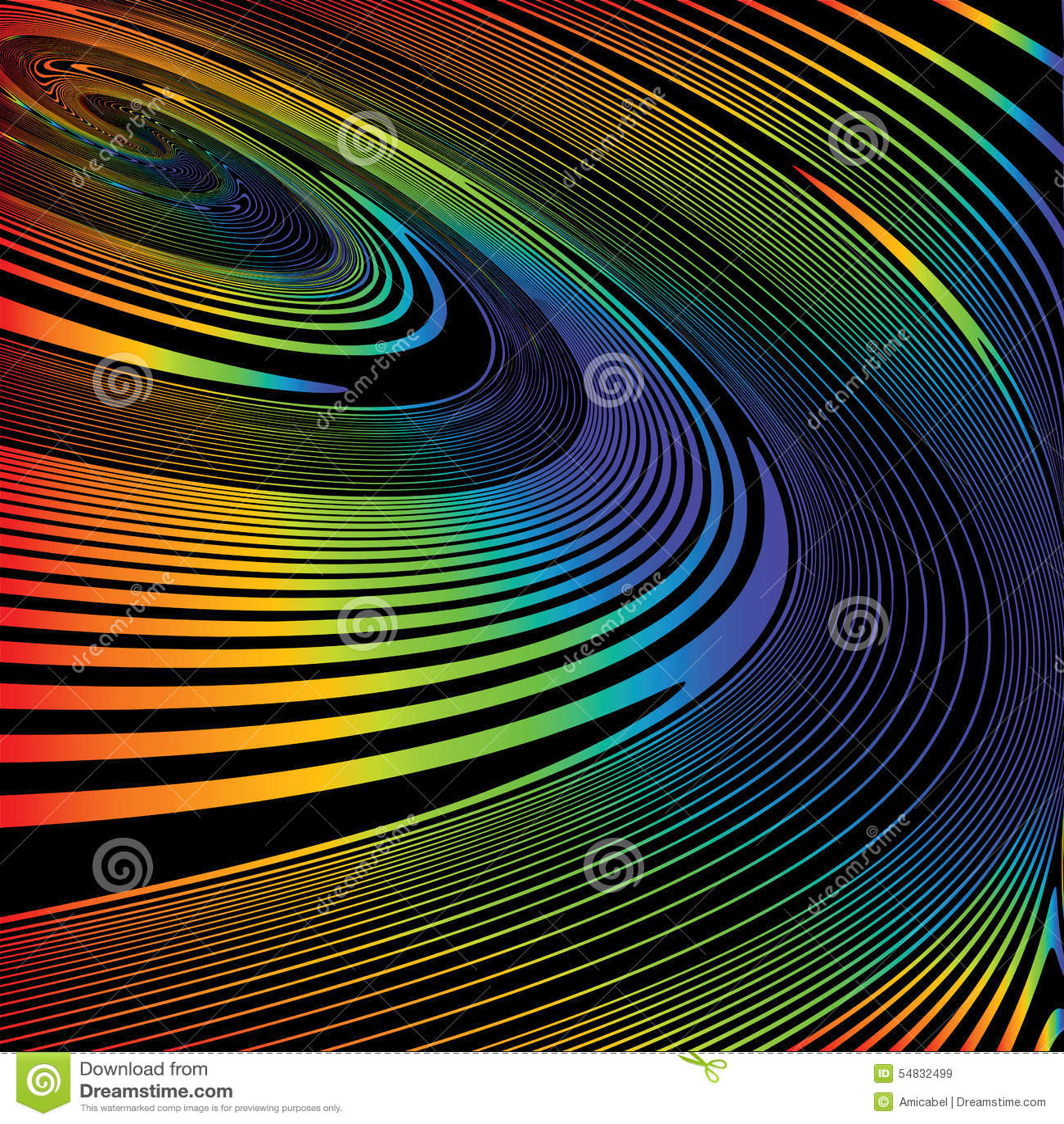 Fundo colorido da ilusão do movimento da hélice do projeto
