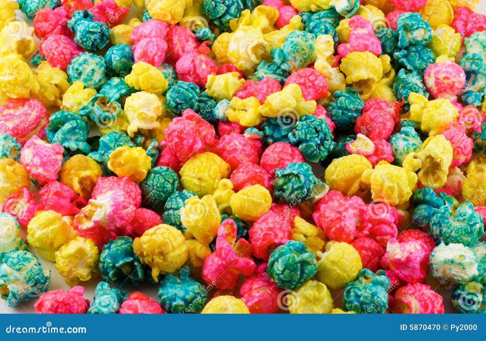 Fundo colorido da pipoca