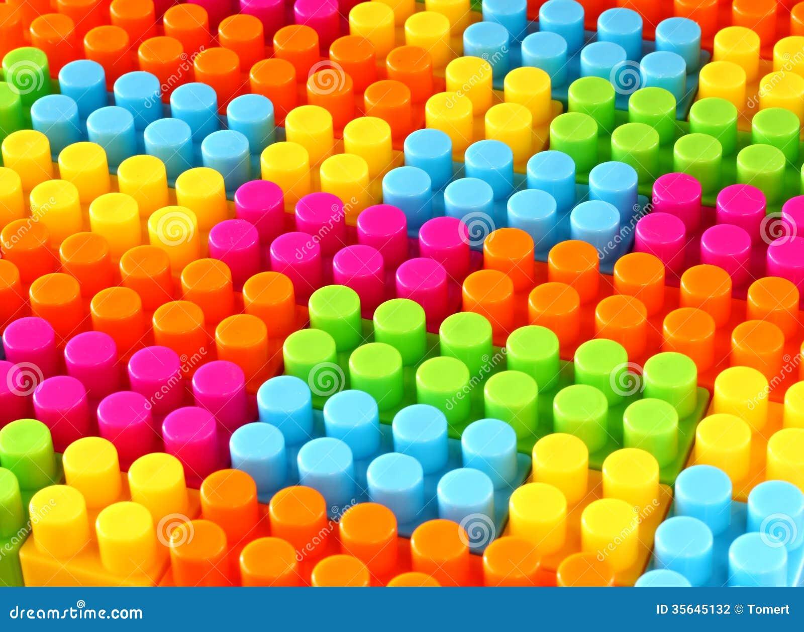 Fundo colorido do brinquedo do tijolo do lego das crianças