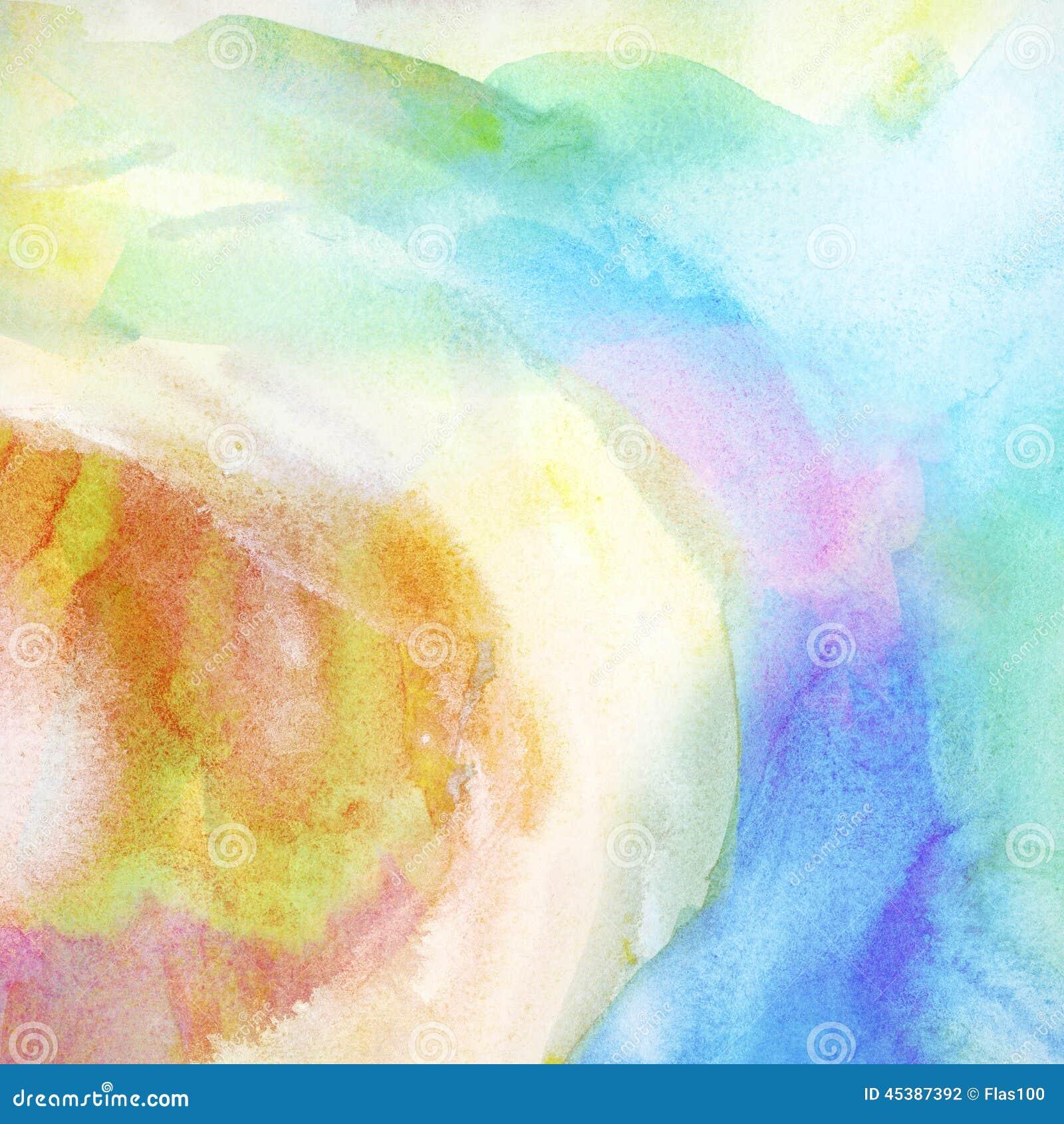 Fundo colorido pintado da aquarela