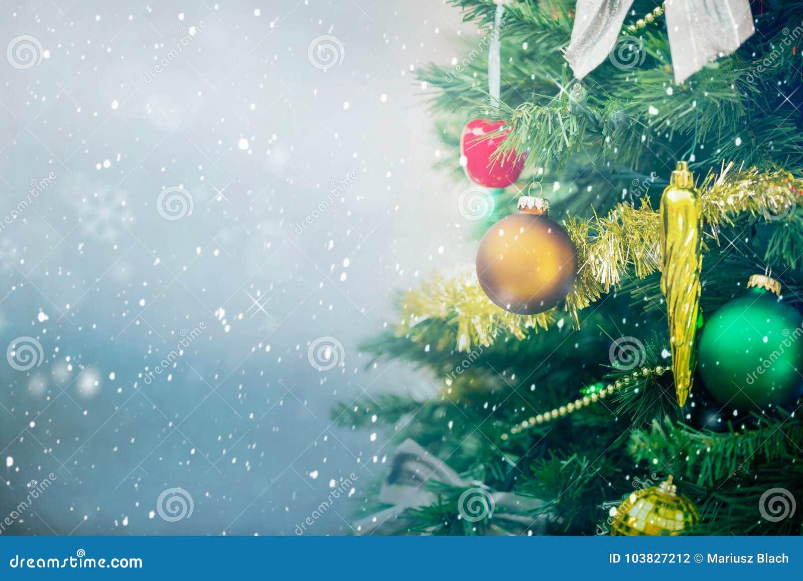 Fundo com árvore de Natal