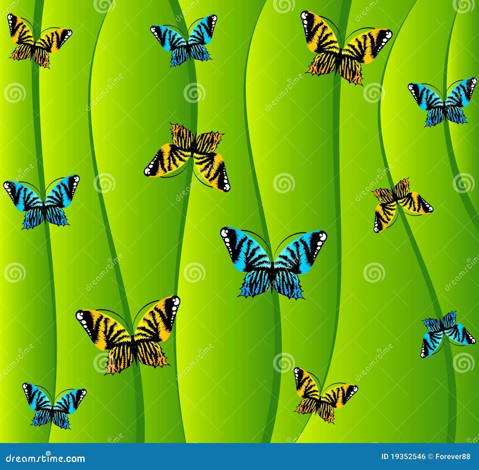 Fundo com borboletas pequenas.