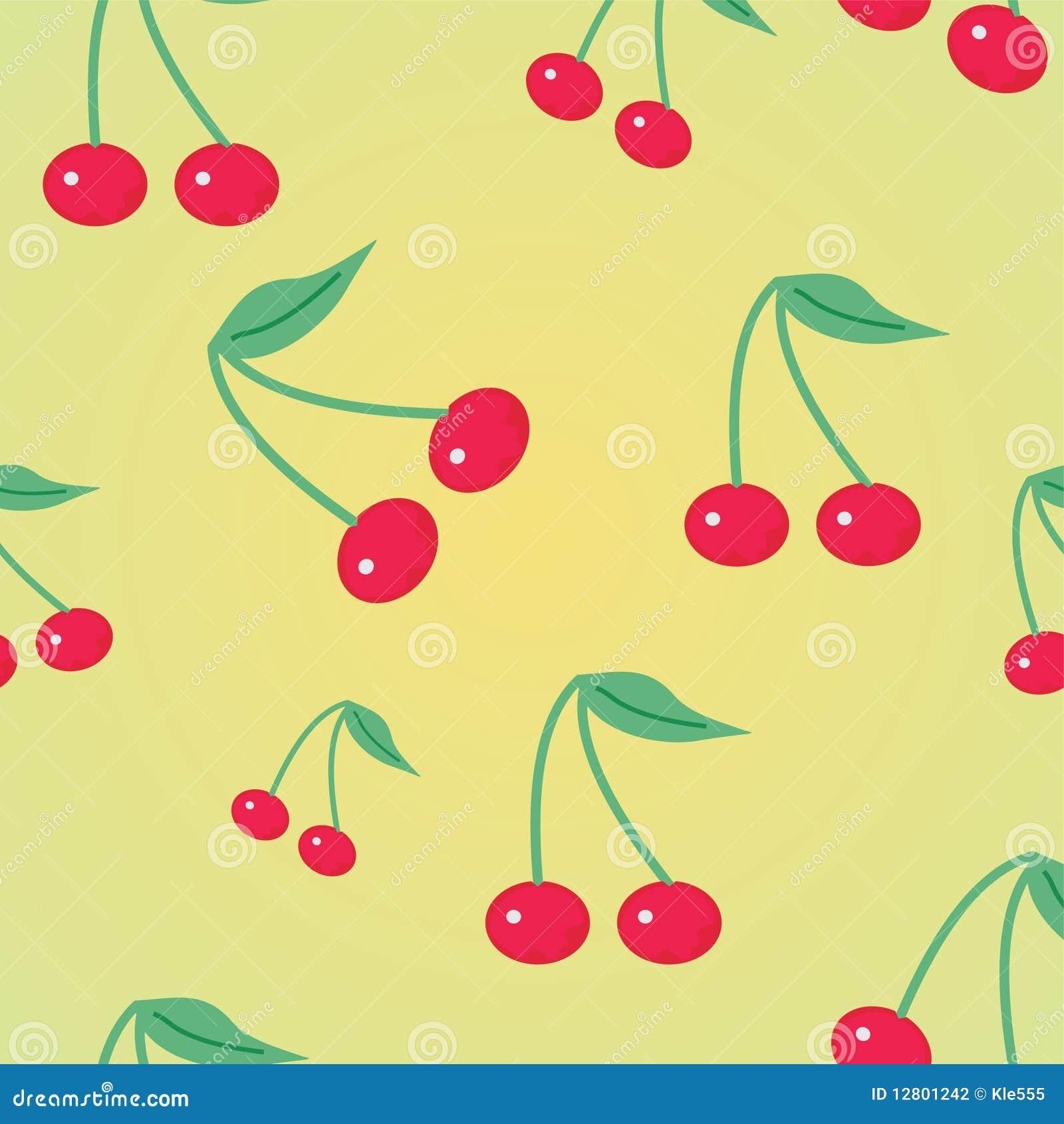 Fundo com cereja