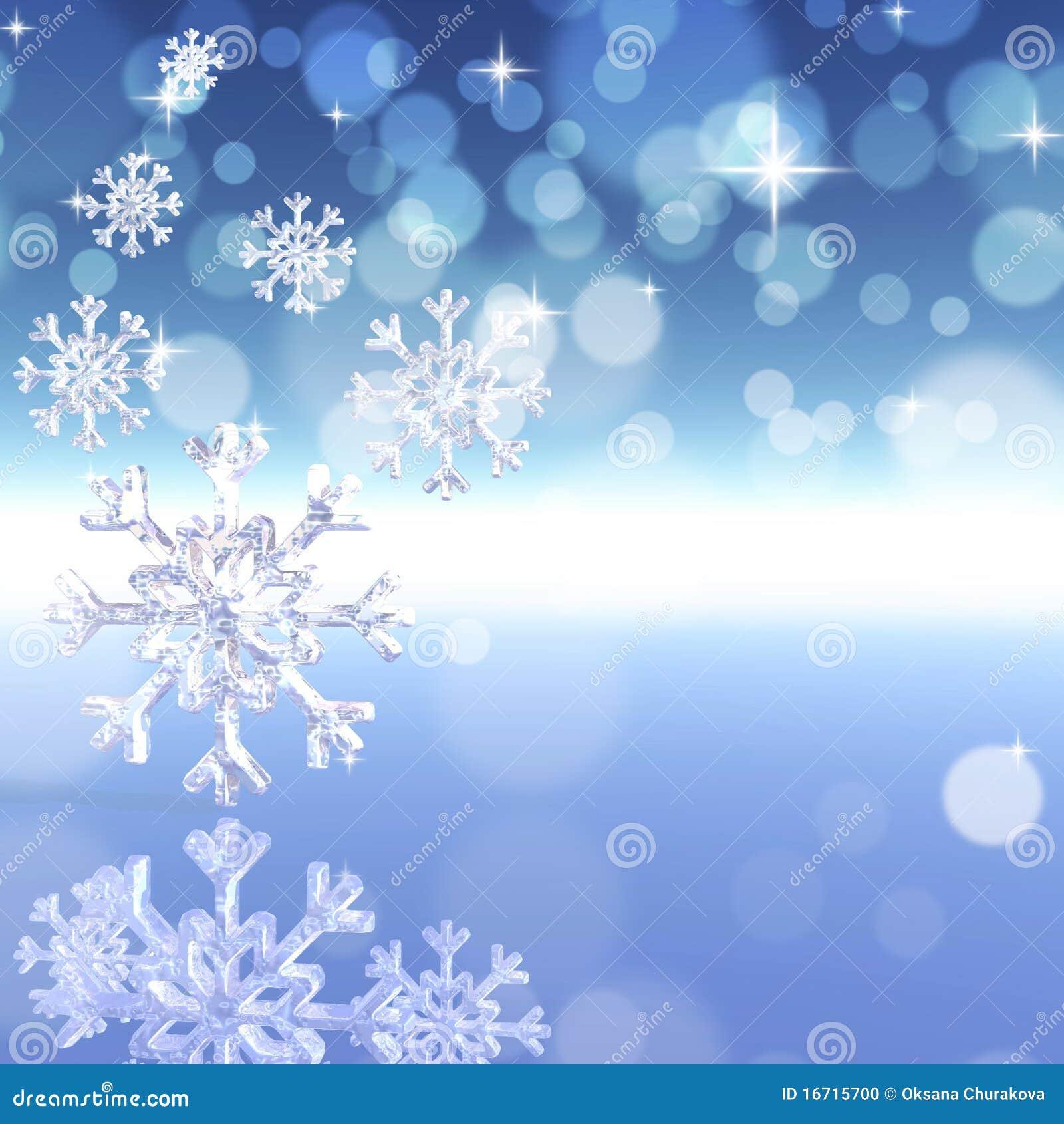Fundo com flocos de neve