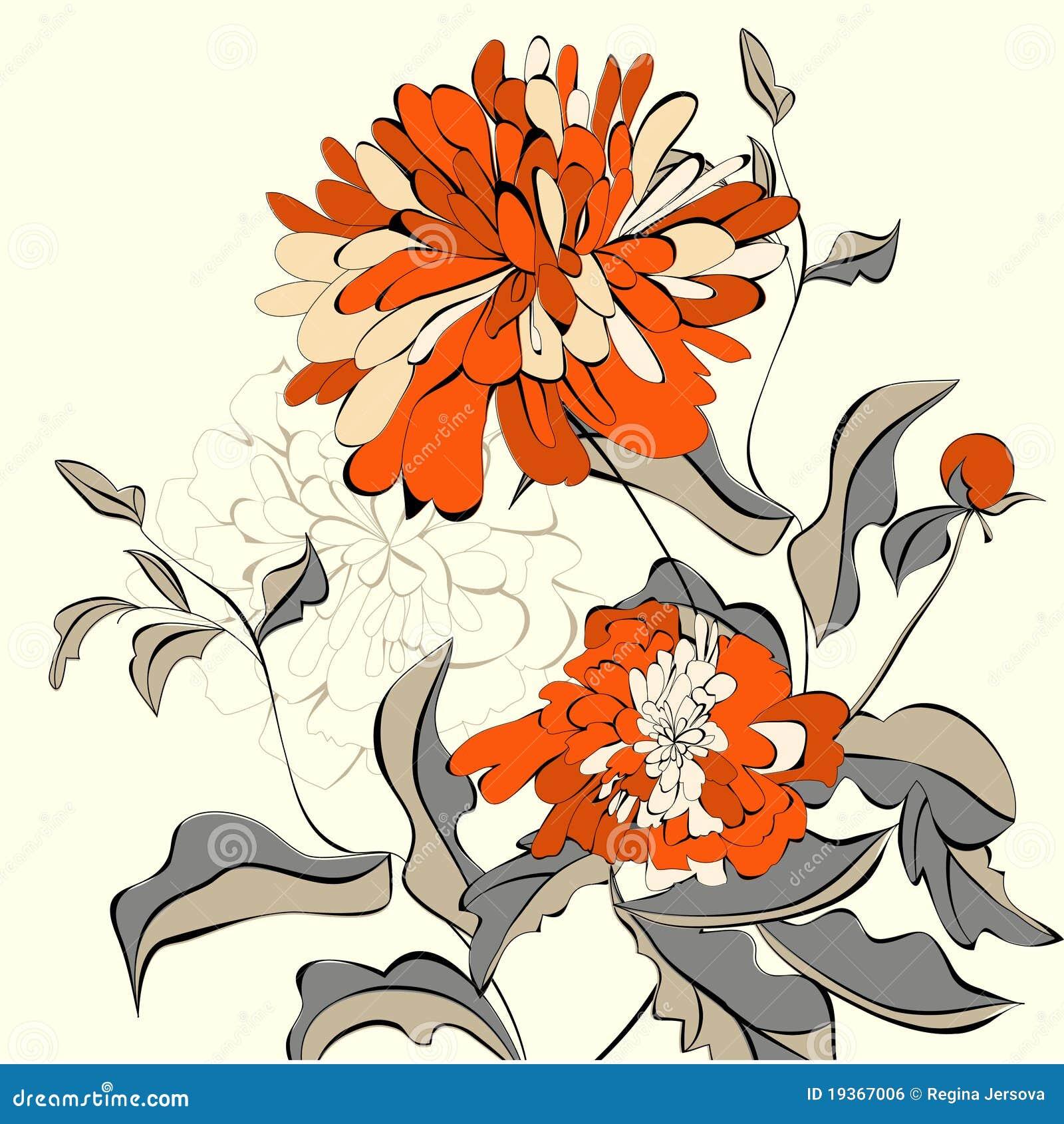 Fundo com flores bonitas
