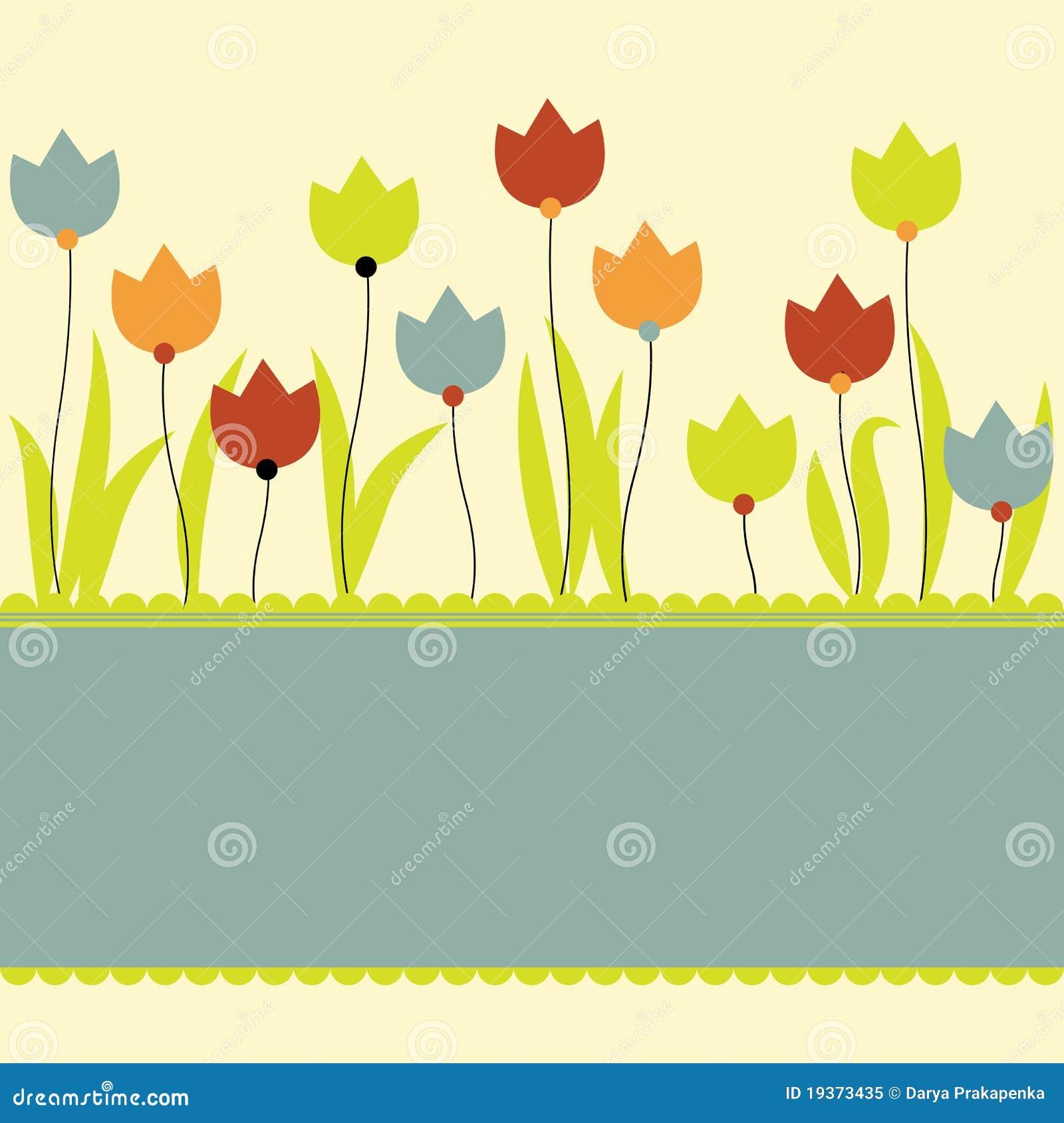 Fundo com flores. Ilustração do vetor